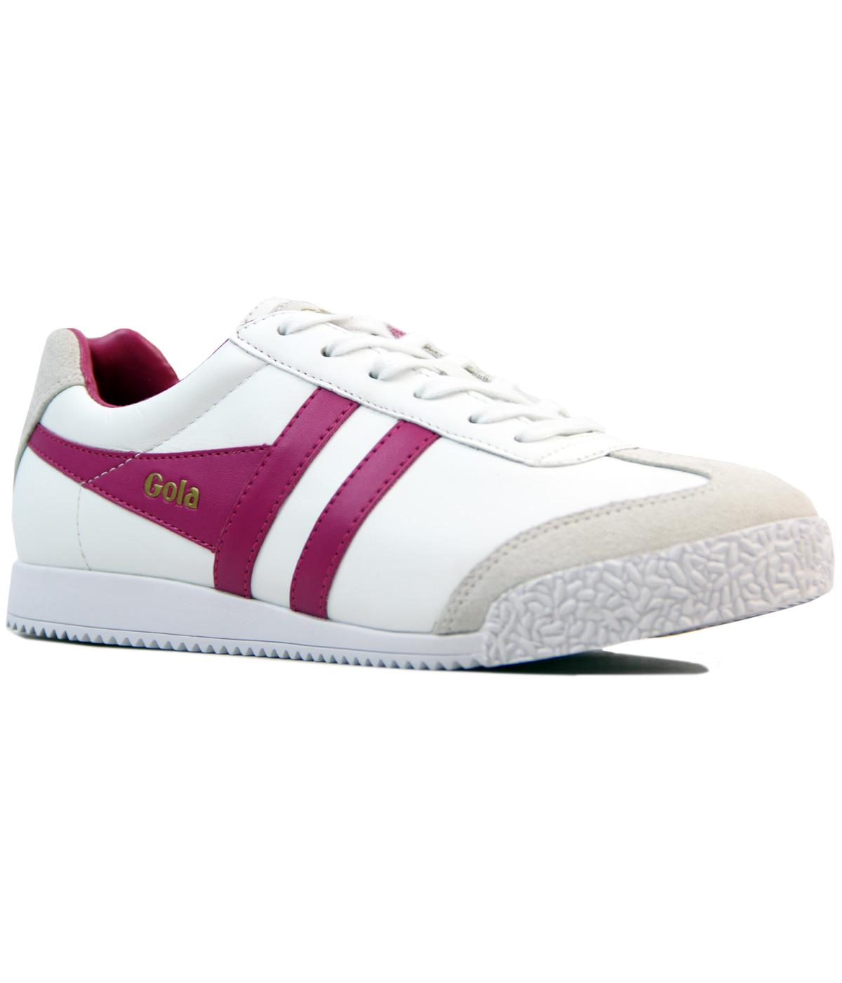 GOLA Harrier Womens Retro Leather Trainers WHITE