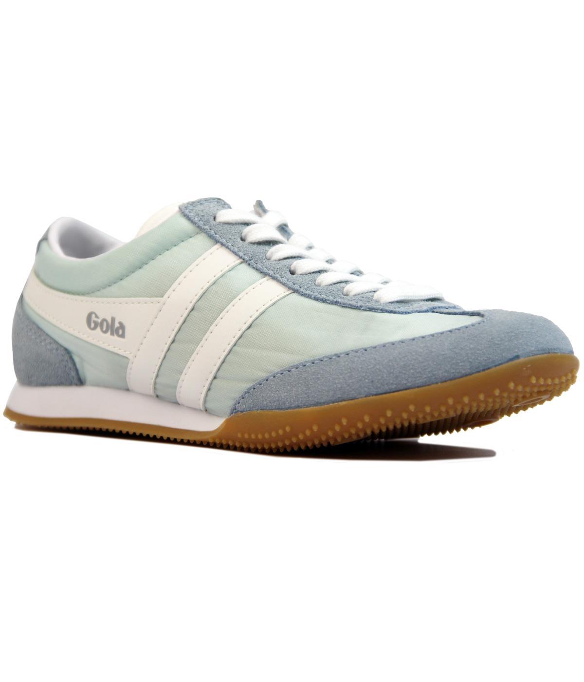 GOLA Wasp Womens Retro Nylon Suede Trainers BLUE