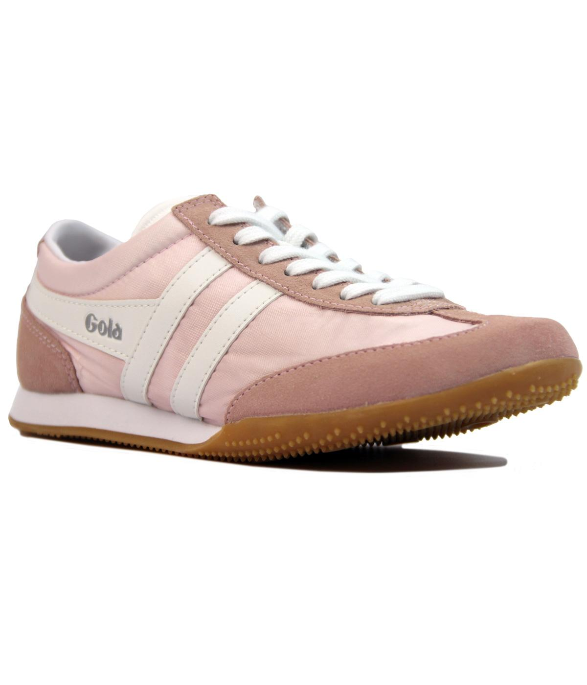 GOLA Wasp Womens Retro Nylon Suede Trainers PINK