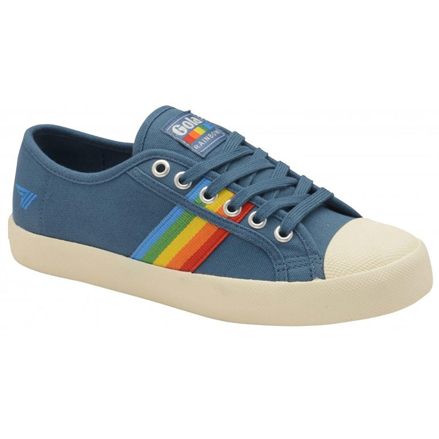 Coaster Rainbow GOLA Retro Canvas Trainers PETROL