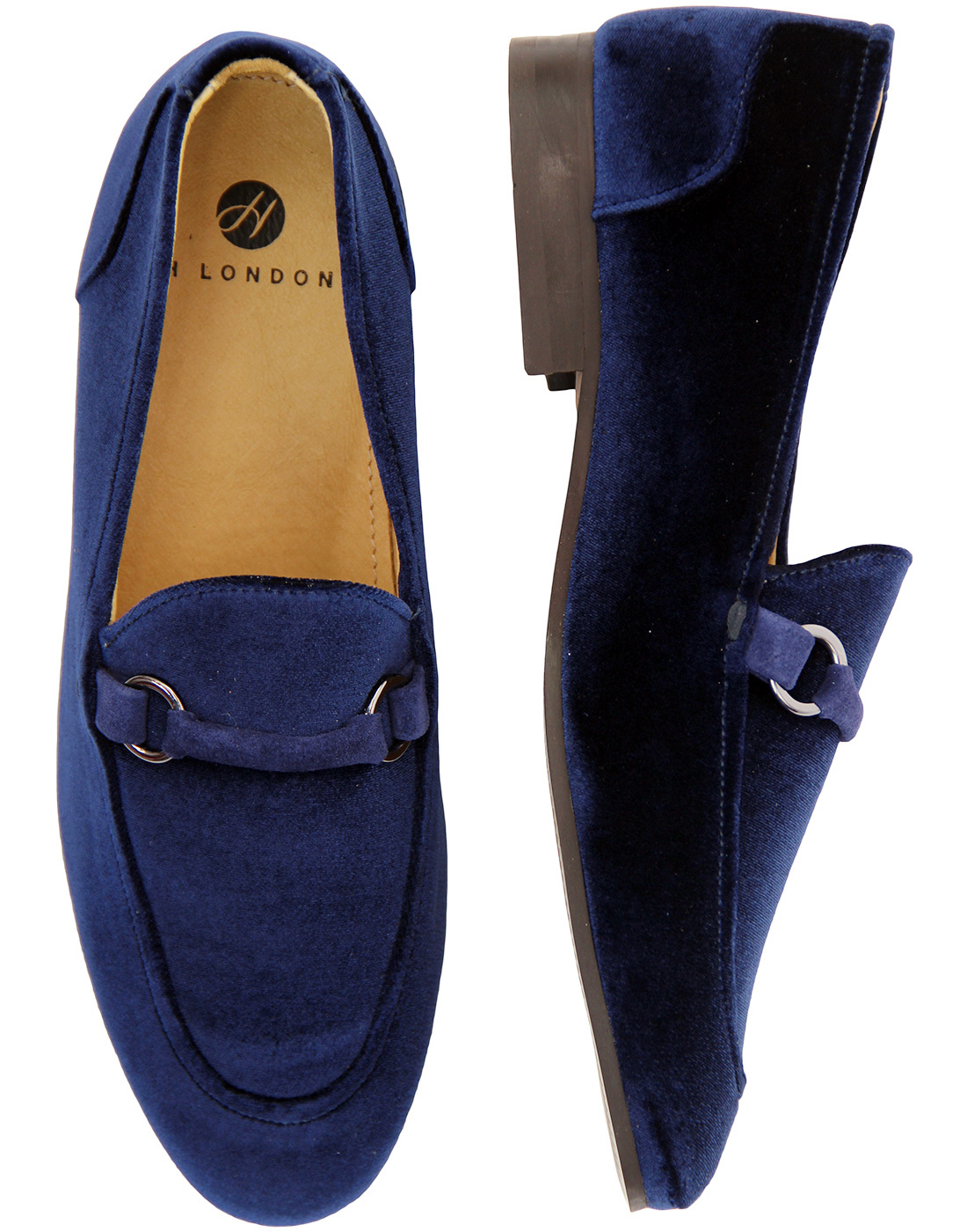 d4615d0c1f394d H By HUDSON Renzo Handcrafted Velvet Loafers in Navy