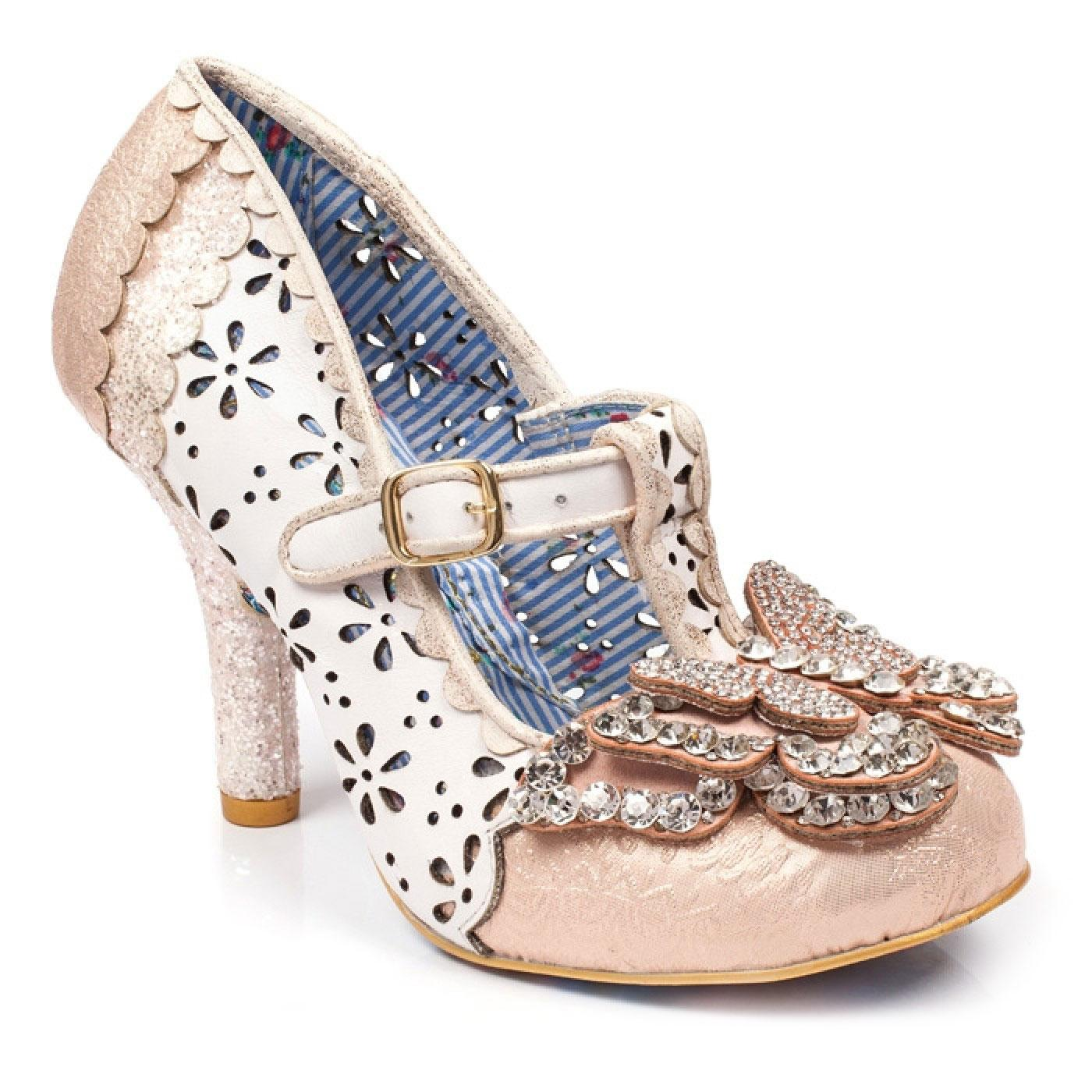 Papillon IRREGULAR CHOICE Butterfly Heels WHITE