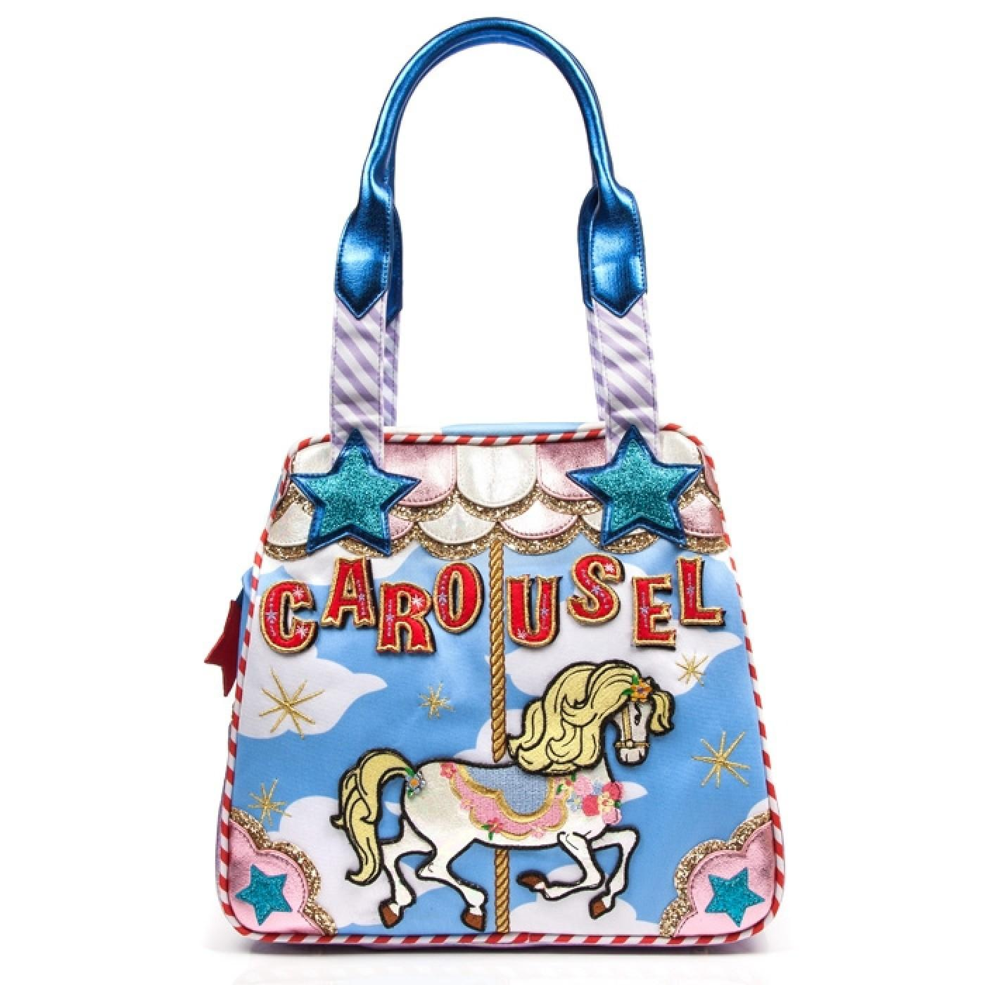 Round And Round IRREGULAR CHOICE Carousel Bag Blue