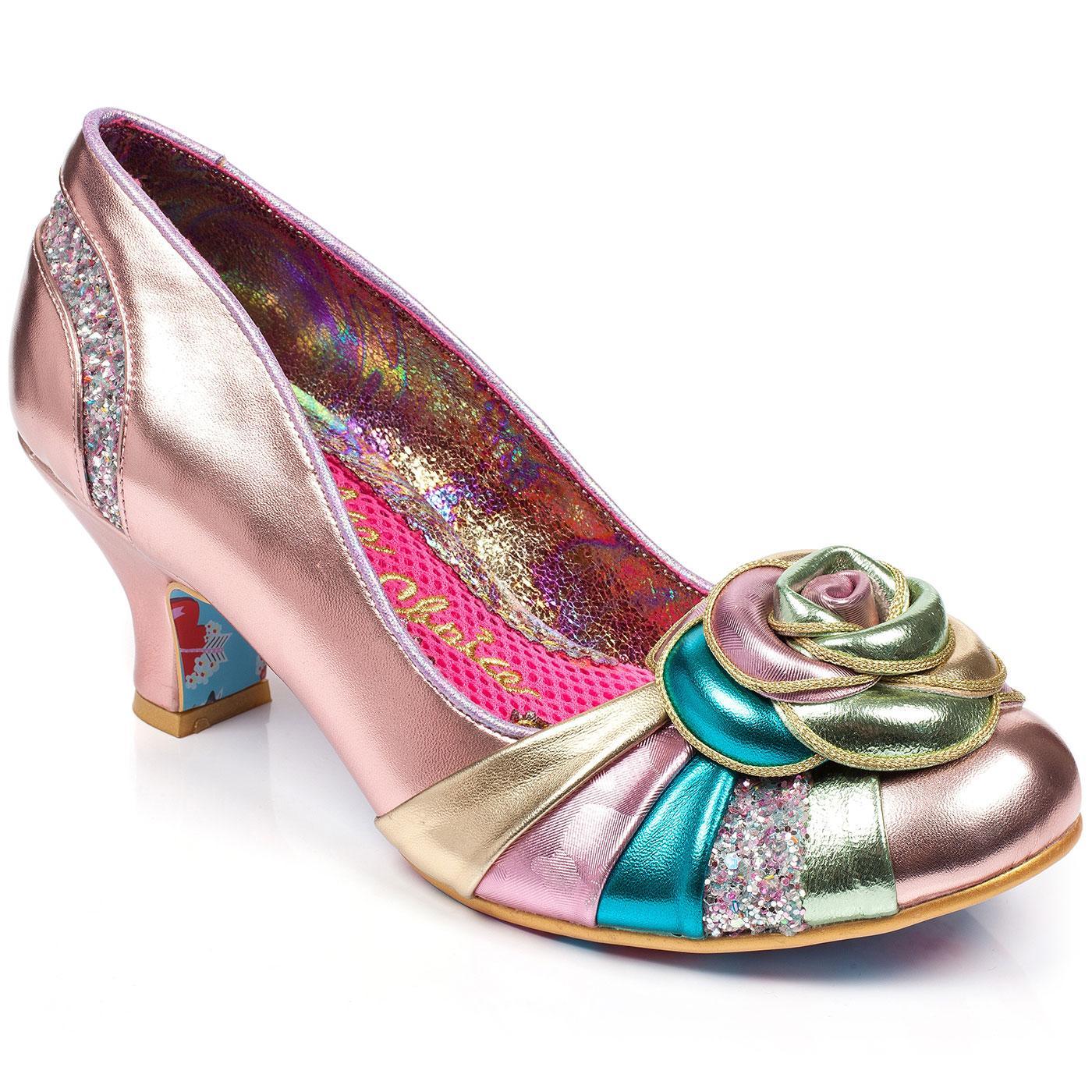 Stupenda IRREGULAR CHOICE Vintage Pastel Rose Heel