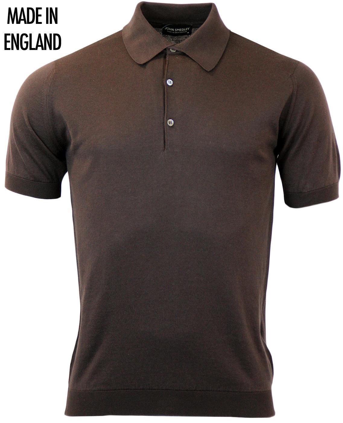 Adrian JOHN SMEDLEY Mens Mod Knitted Polo Shirt DL