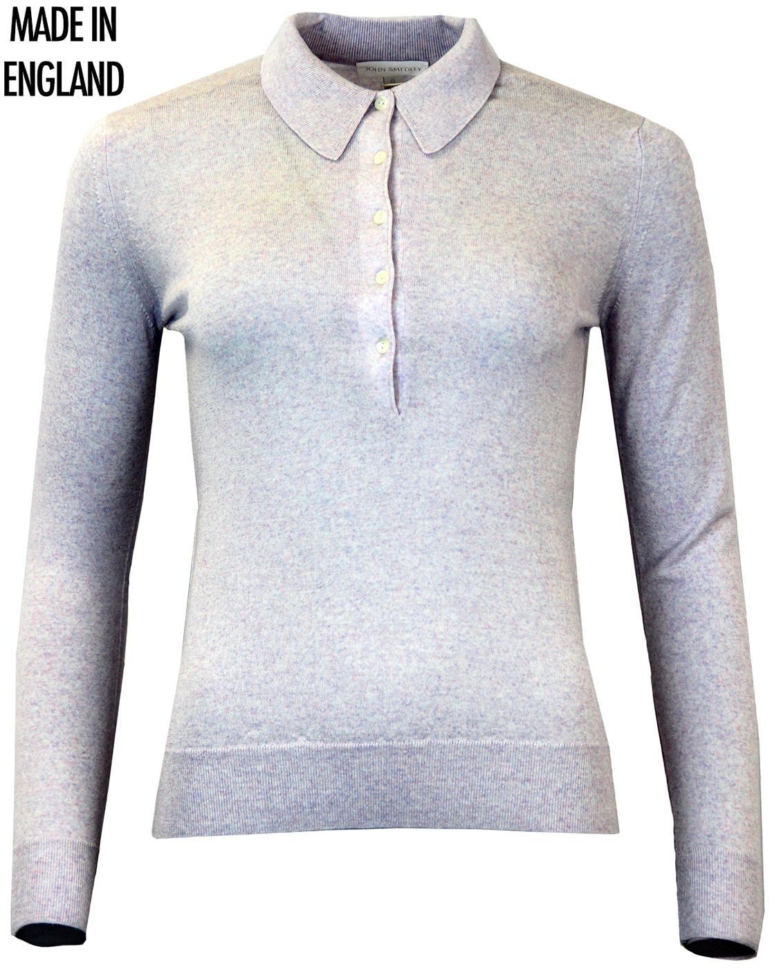 Agatha JOHN SMEDLEY Retro 60s Mod Knitted Polo Top