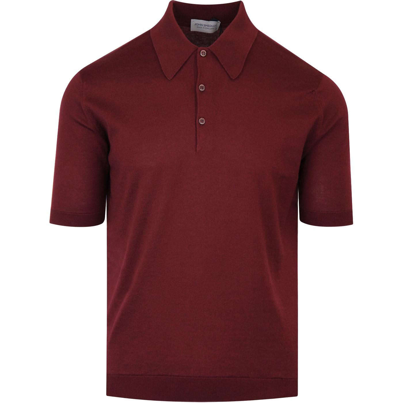 Isis JOHN SMEDLEY Easy Fit Mod Knit Polo BORDEAUX