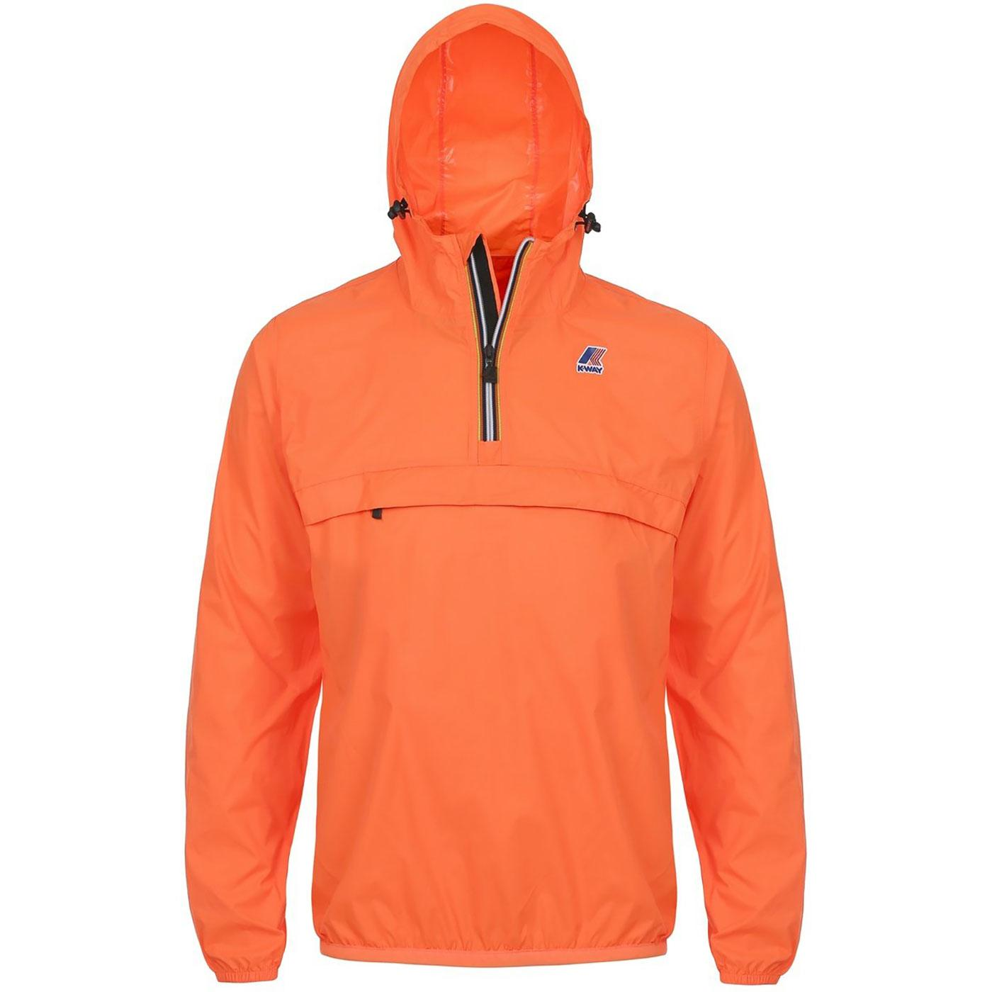Leon K-WAY Retro Pack-A-Mac Overhead Jacket ORANGE