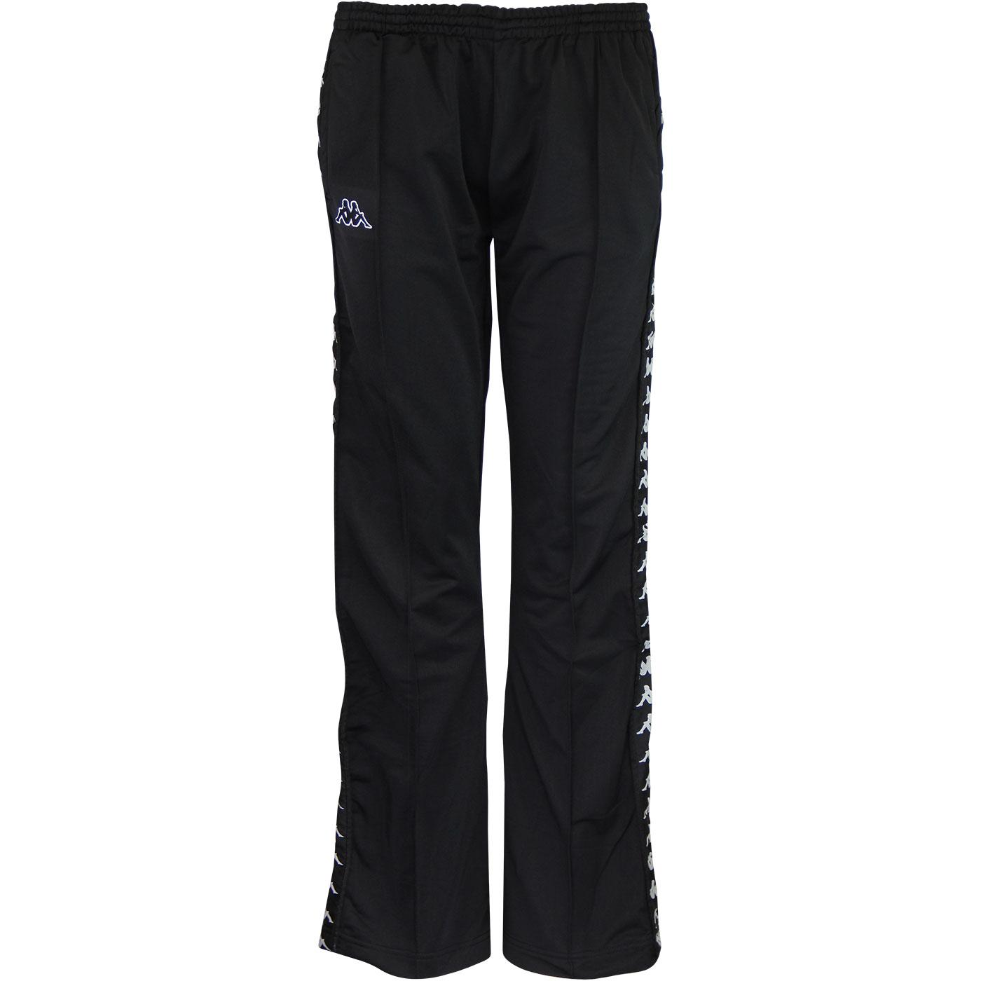 Wastoria Banda KAPPA Womens Snap Track Pants BLACK