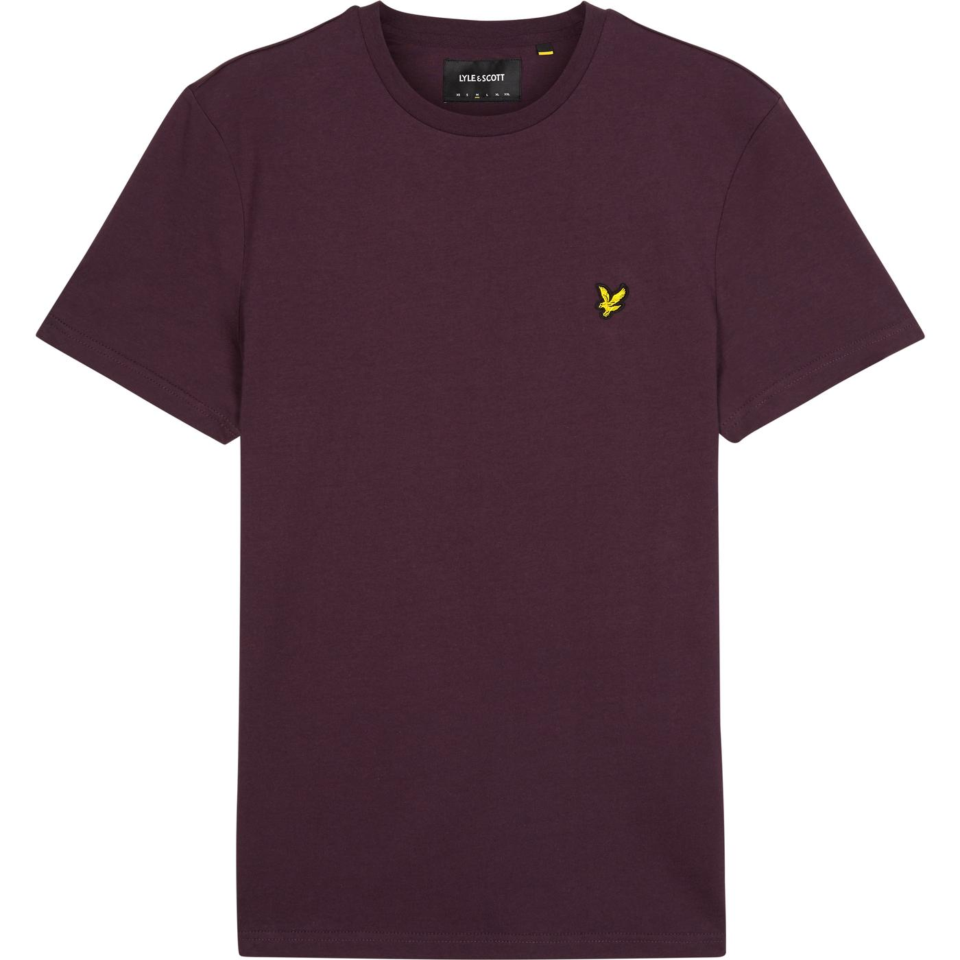 LYLE & SCOTT Men's Crew Neck T-Shirt (Deep Plum)