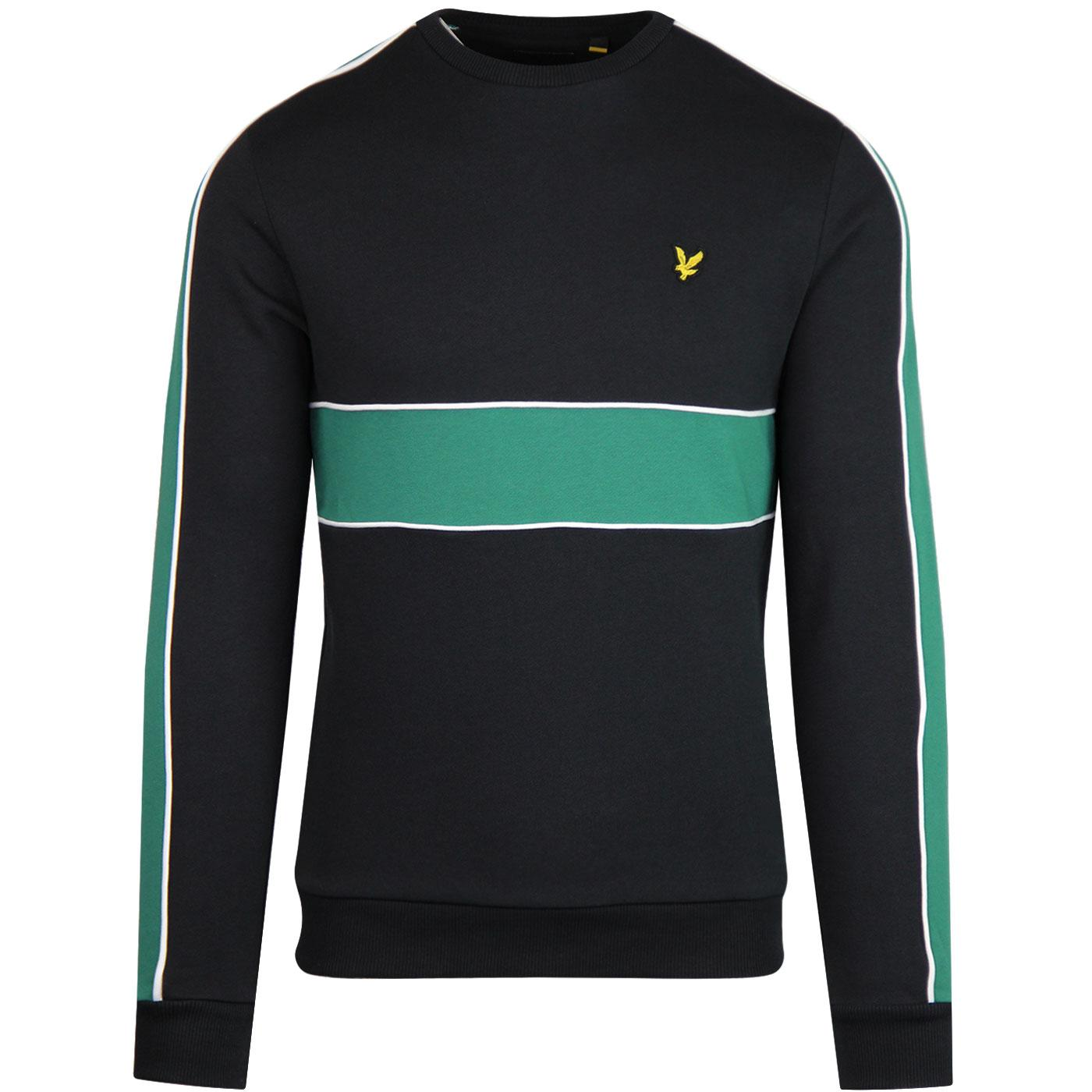 LYLE & SCOTT Men's Cut & Sew Crew Neck Sweater