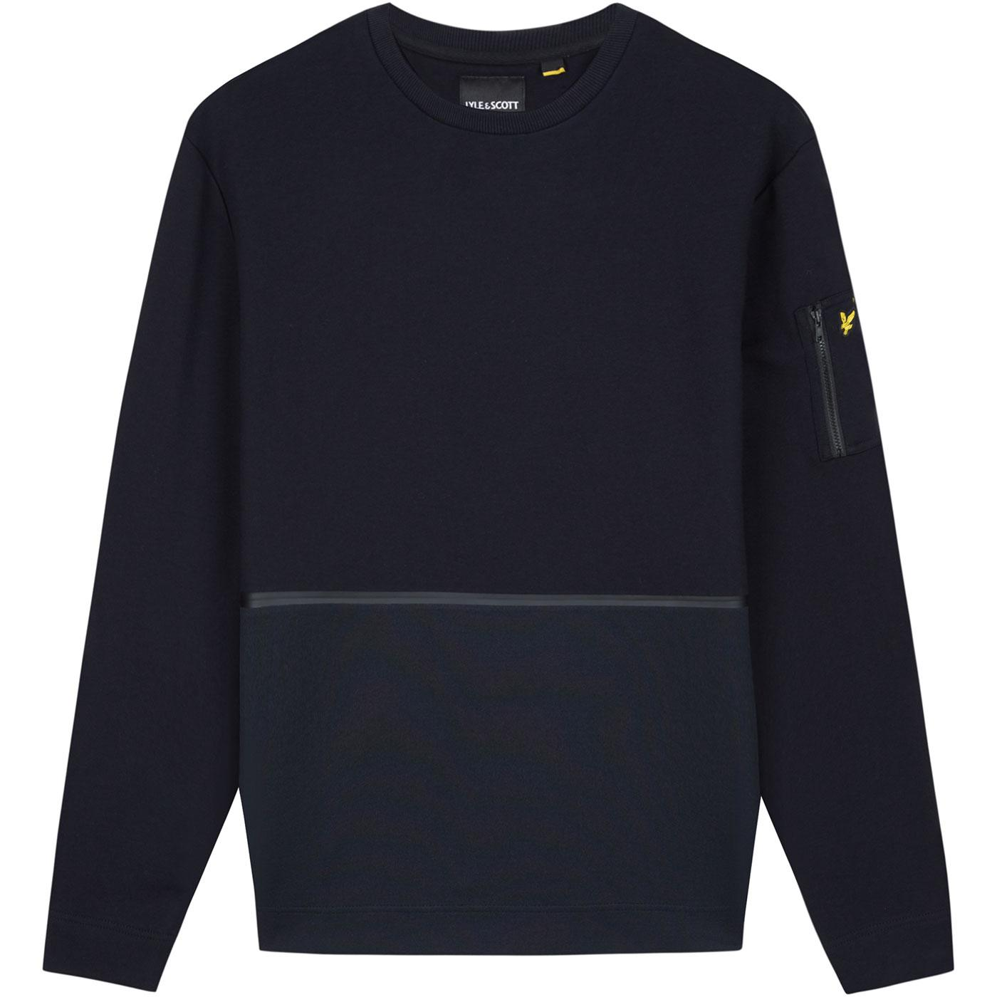 LYLE & SCOTT Men's Retro Casuals Sweatshirt BLACK