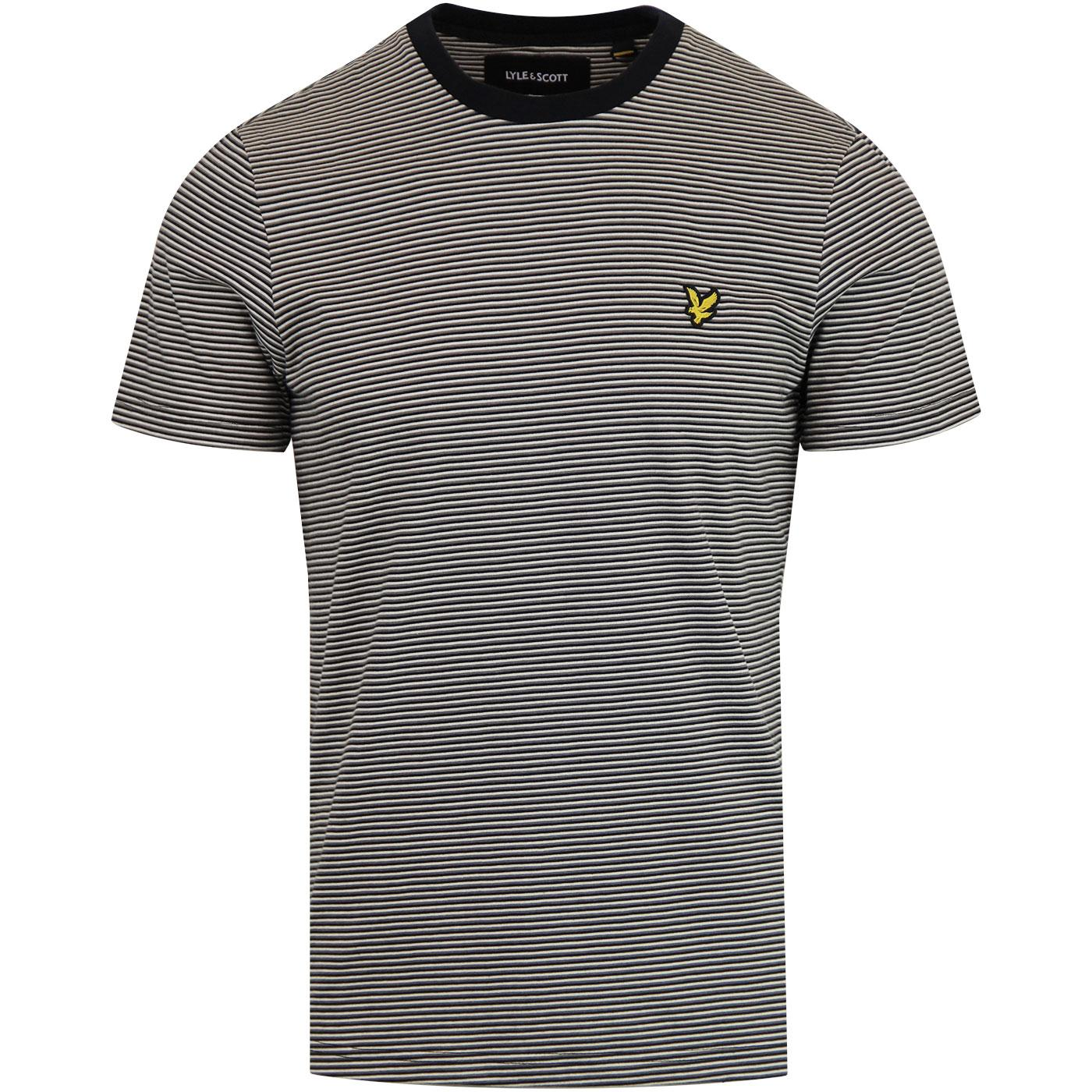 LYLE & SCOTT Men's Retro Feeder Stripe T-shirt TB