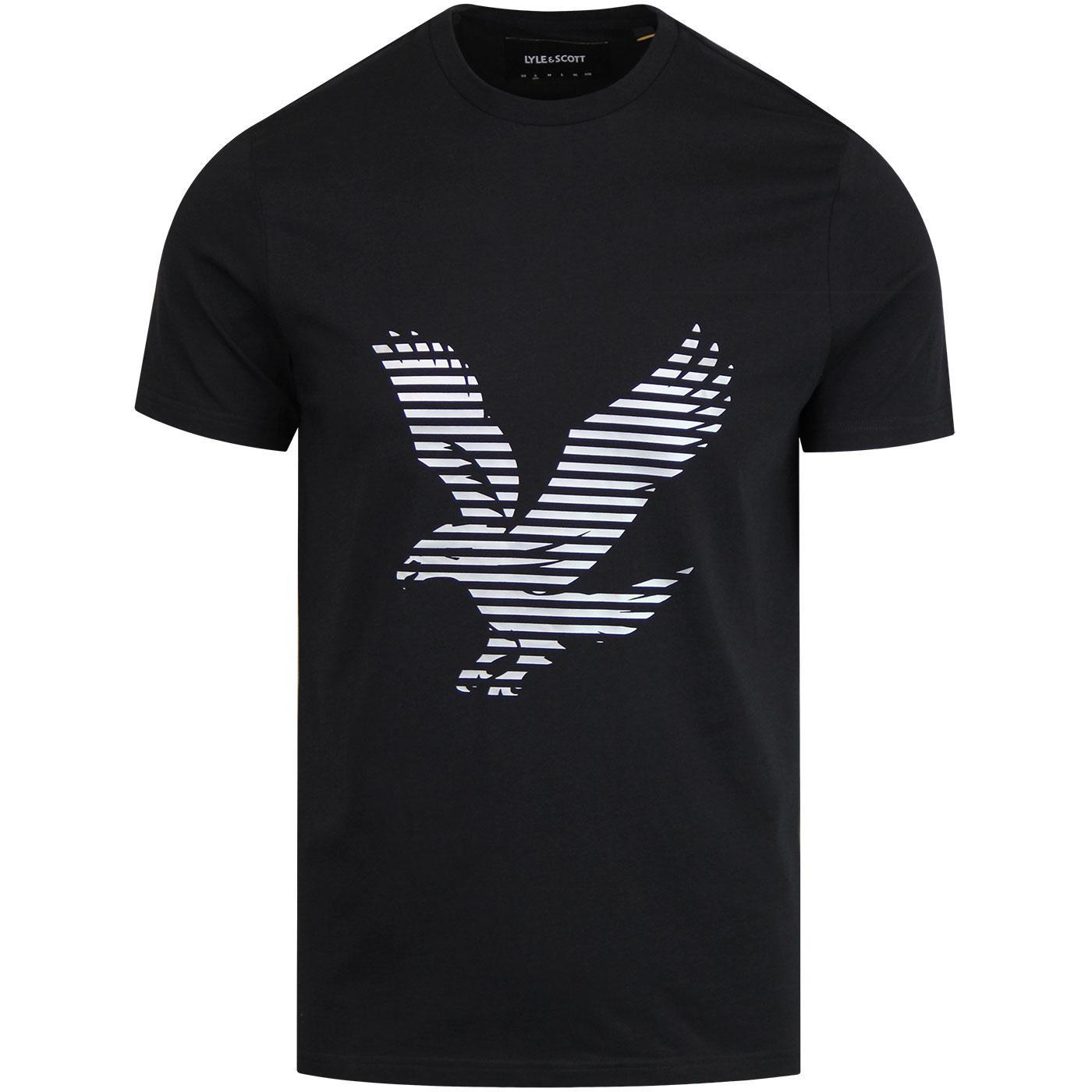 LYLE & SCOTT Casuals Retro Logo Tee - True Black