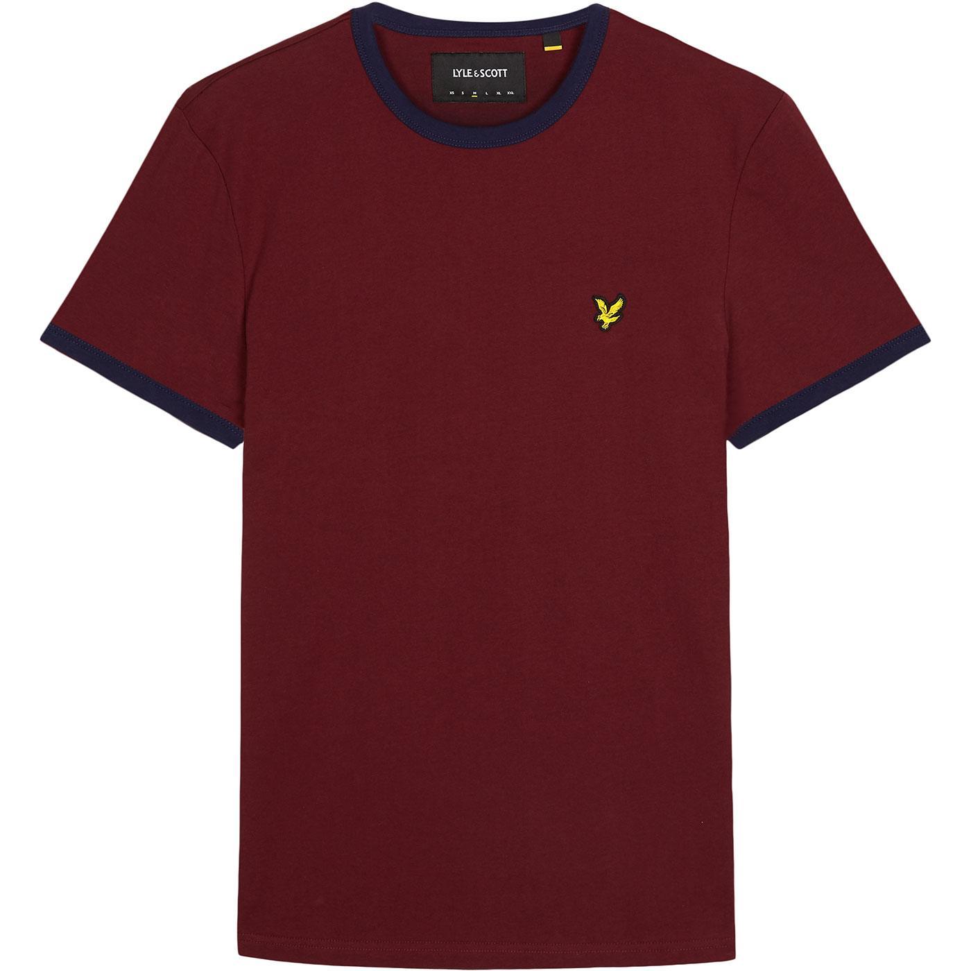 LYLE & SCOTT Retro Ringer T-Shirt (Claret Jug)