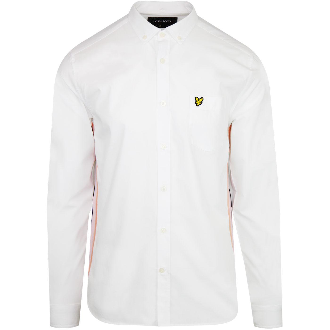 LYLE & SCOTT Mod Button Down Side Stripe Shirt (W)