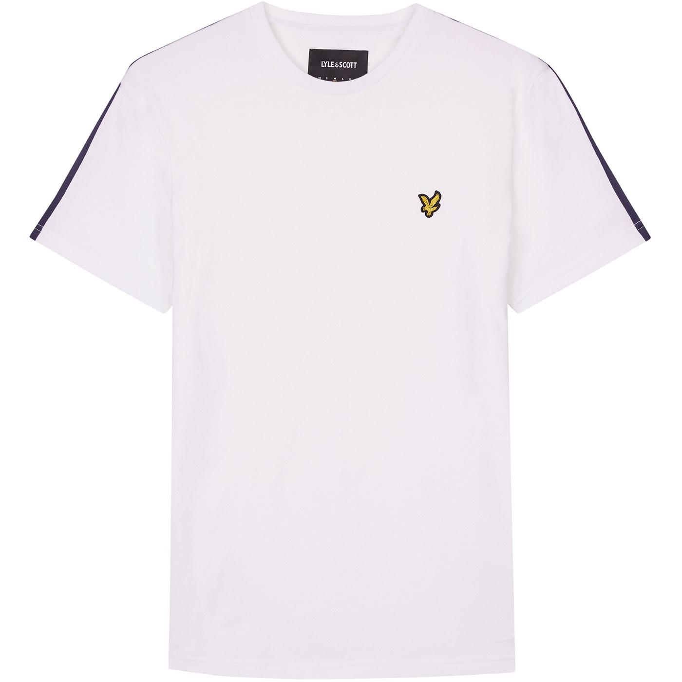LYLE & SCOTT Retro Mod Side Stripe T-shirt (White)