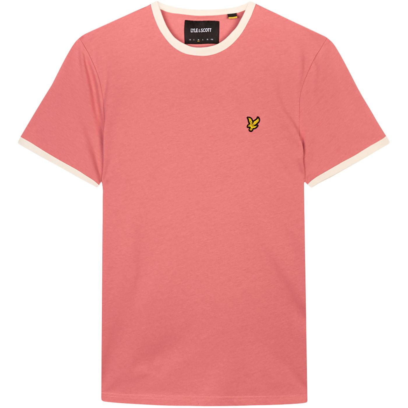 LYLE & SCOTT Men's Retro 70s Ringer T-Shirt (Pink)