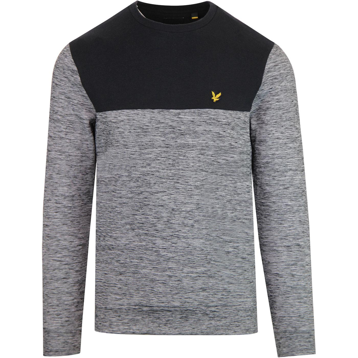 LYLE & SCOTT Retro Space Dye Sweatshirt TRUE BLACK