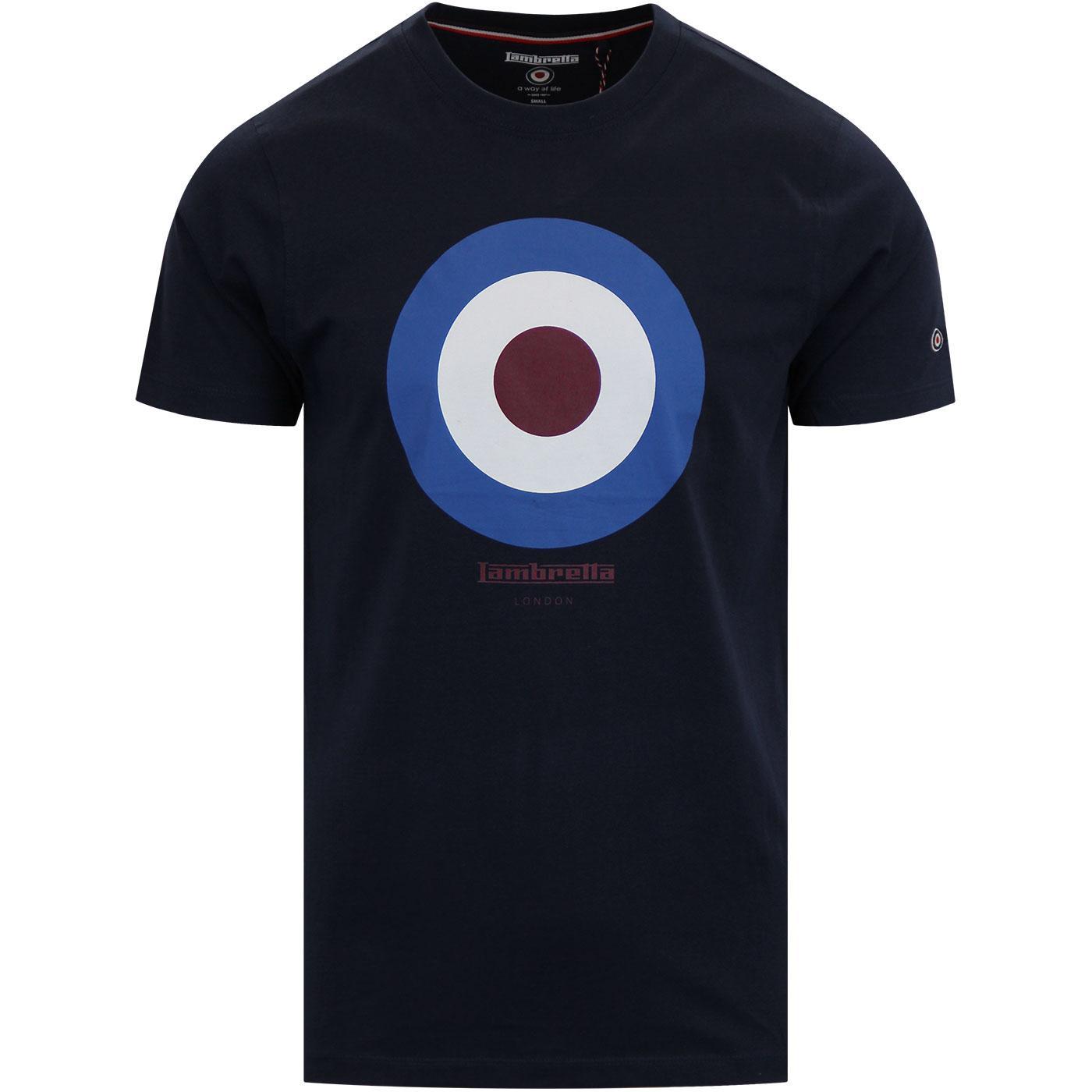 LAMBRETTA Keith Moon 60s Mod Target T-shirt NAVY