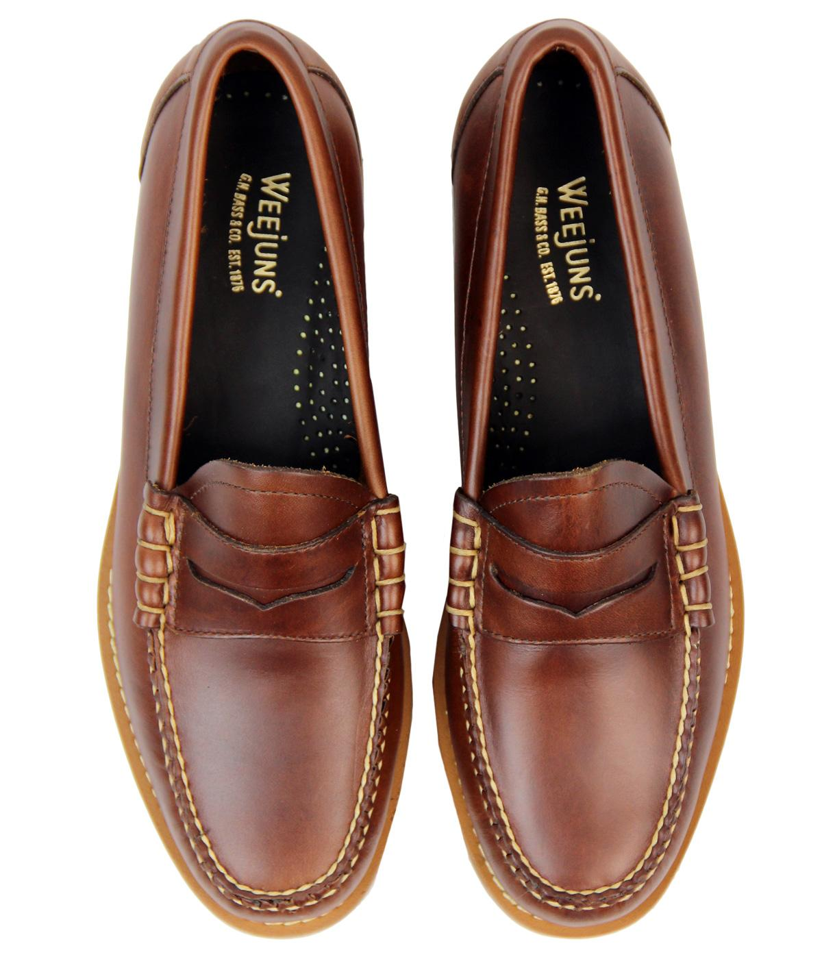 BASS WEEJUNS Larson Mod Pull Up Beef Roll Penny Loafers in ...