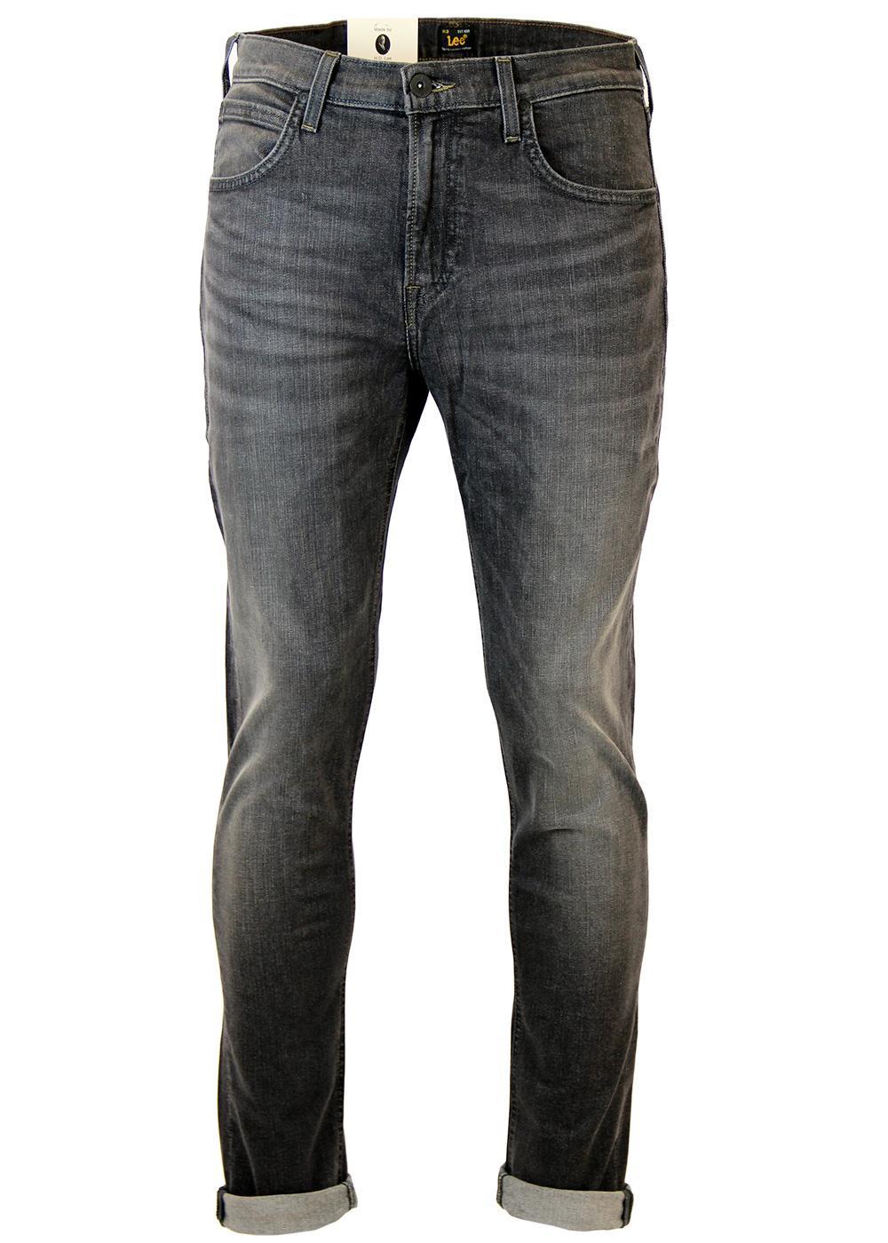 4a5df2a4 LEE Arvin Retro 70s Mod Grey Worn Denim Regular Tapered Jeans