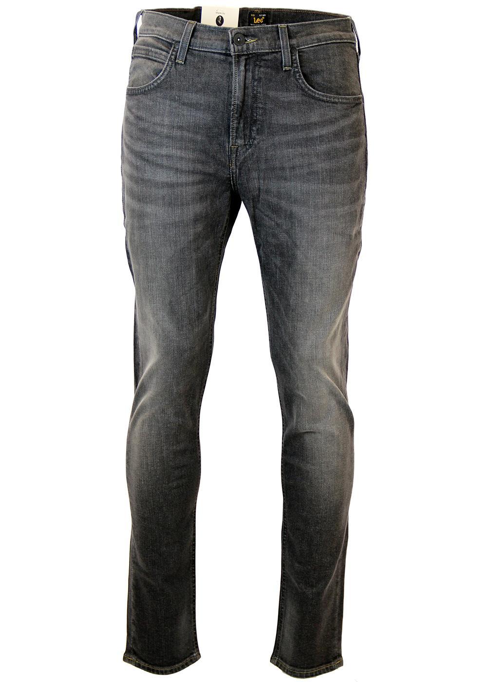 e820d70d LEE Arvin Retro 70s Mod Grey Worn Denim Regular Tapered Jeans