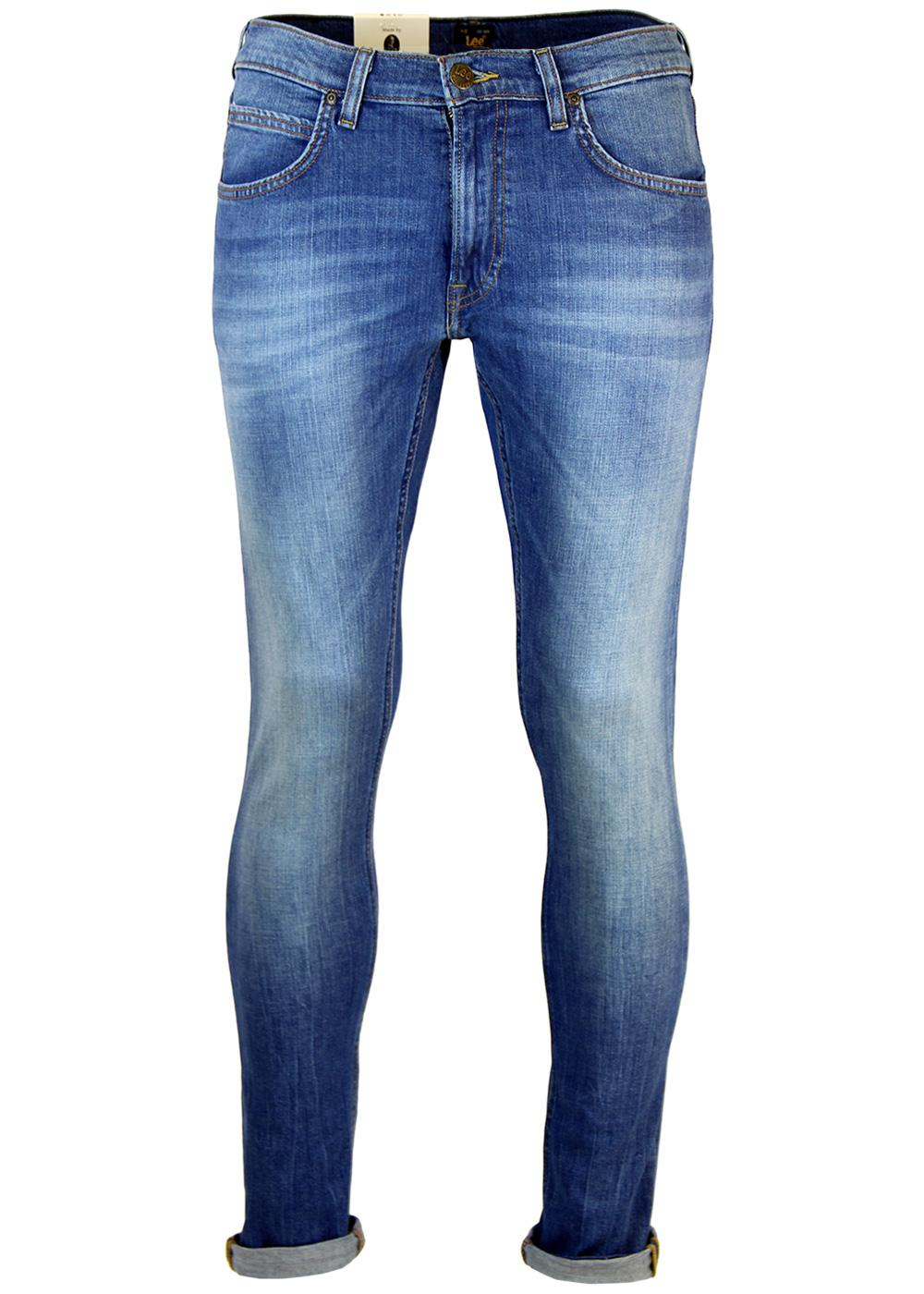 767cf915 LEE Luke Retro Indie Slim Tapered Denim Jeans in Authentic Blue