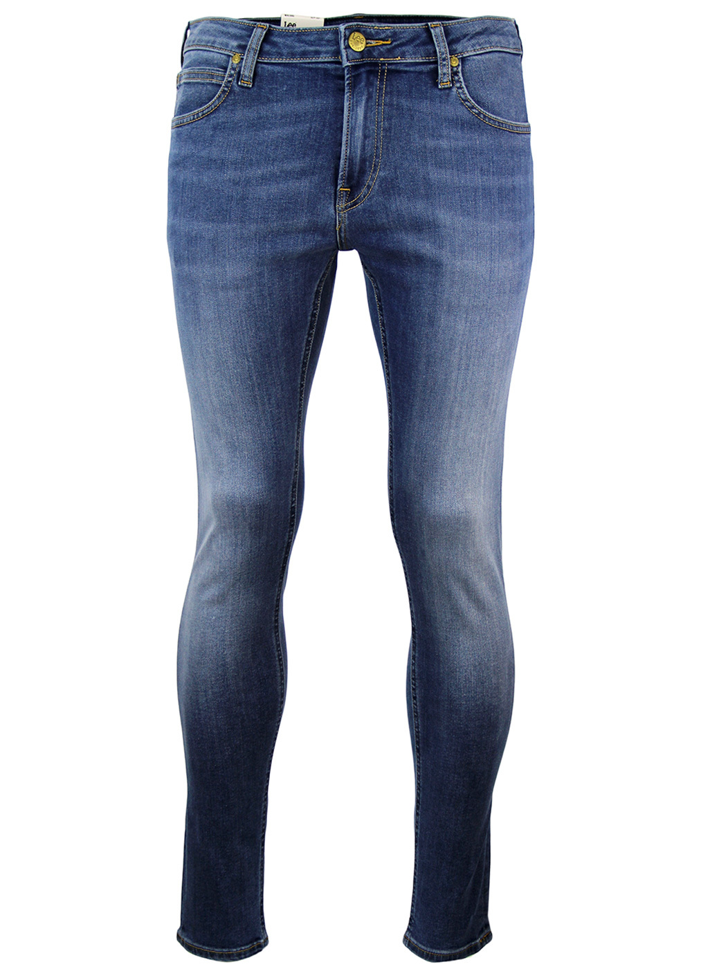 Malone LEE Retro Common Blue Skinny Denim Jeans