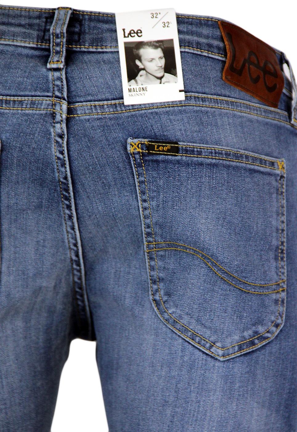 d354c313 LEE Malone Retro Indie Mod Skinny Denim Jeans in Common Blue