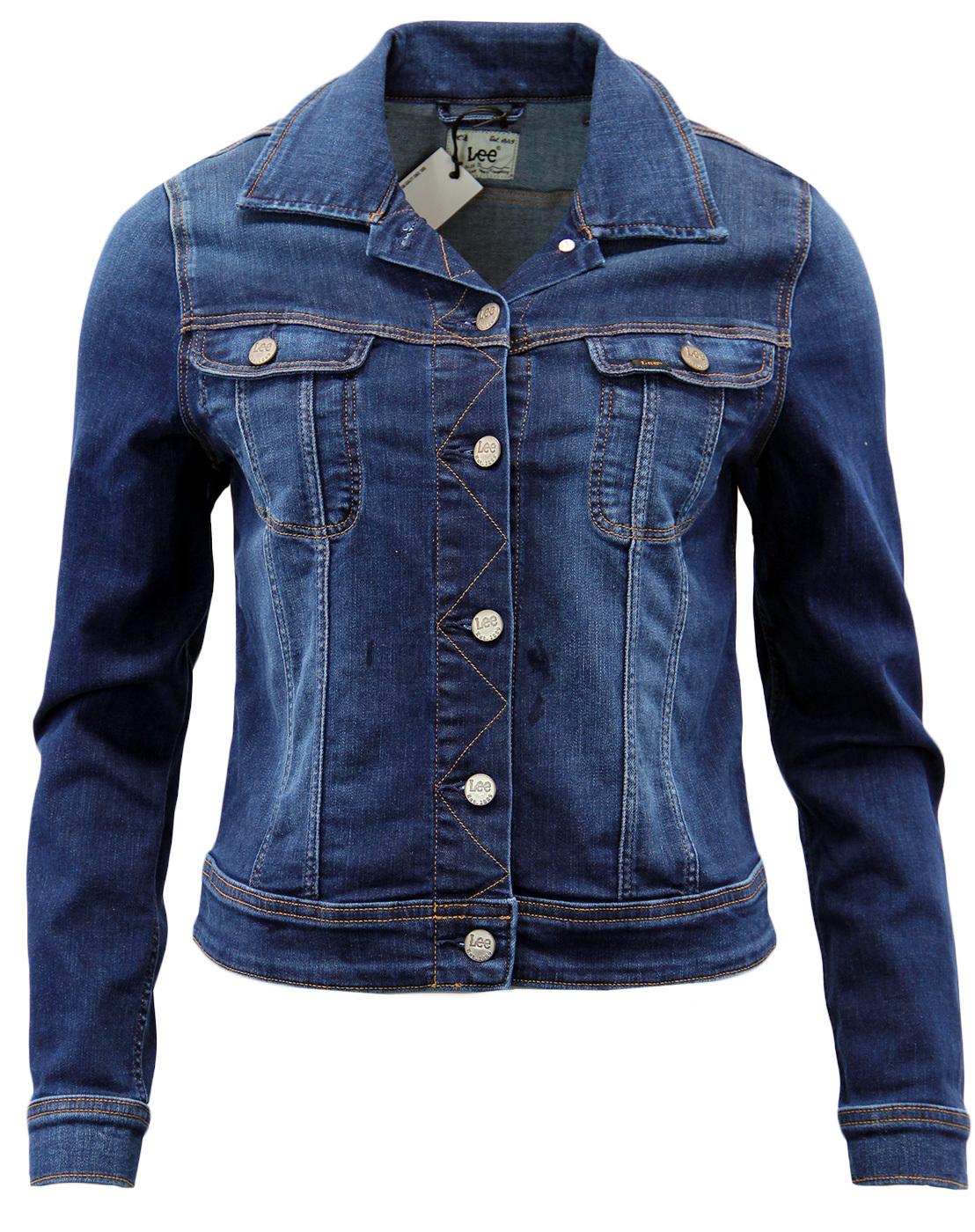 fbff80bc LEE Rider Retro 60s Mod Womens Slim Fit Denim Jacket in Night Sky
