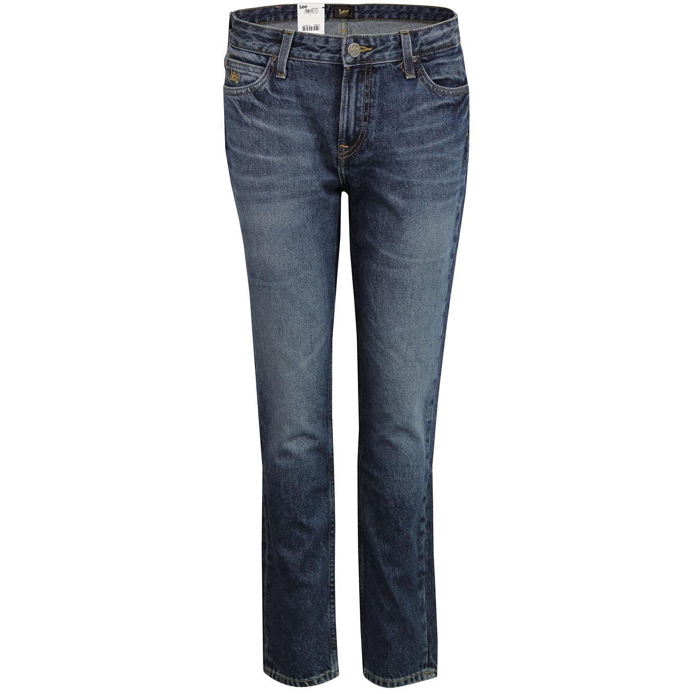 Elly LEE High Waist Slim Straight Denim Jeans (RW)