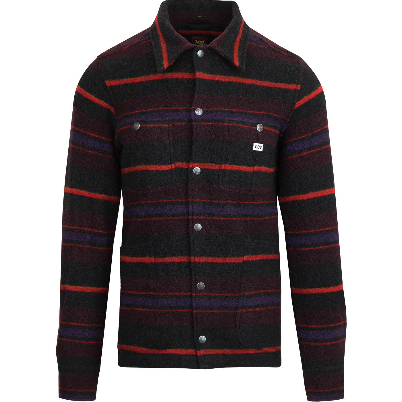 Loco LEE Men's Retro Western Stripe Wool Overshirt
