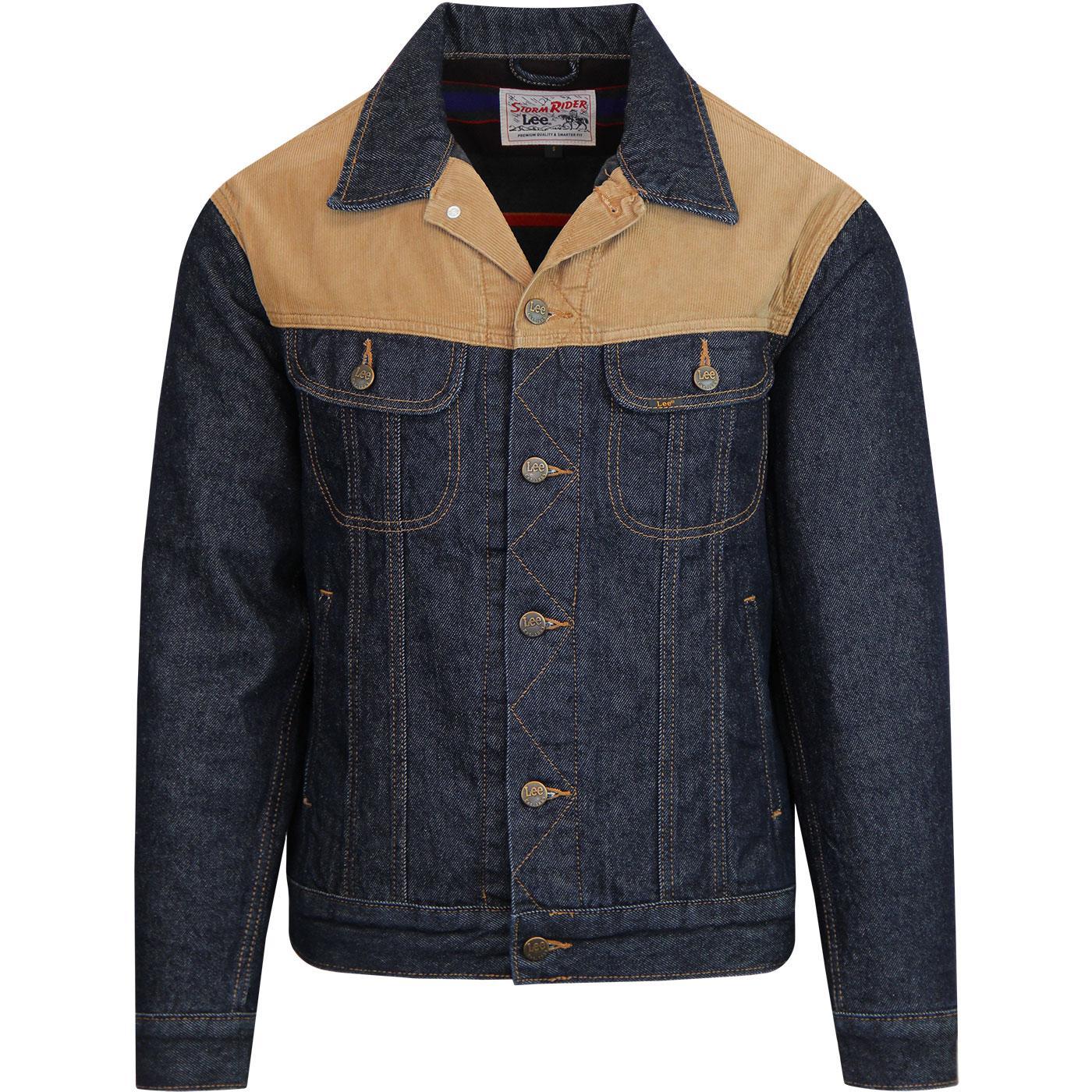 24912ec1 LEE Storm Rider Men's Retro 70s Mod Cord & Denim Jacket