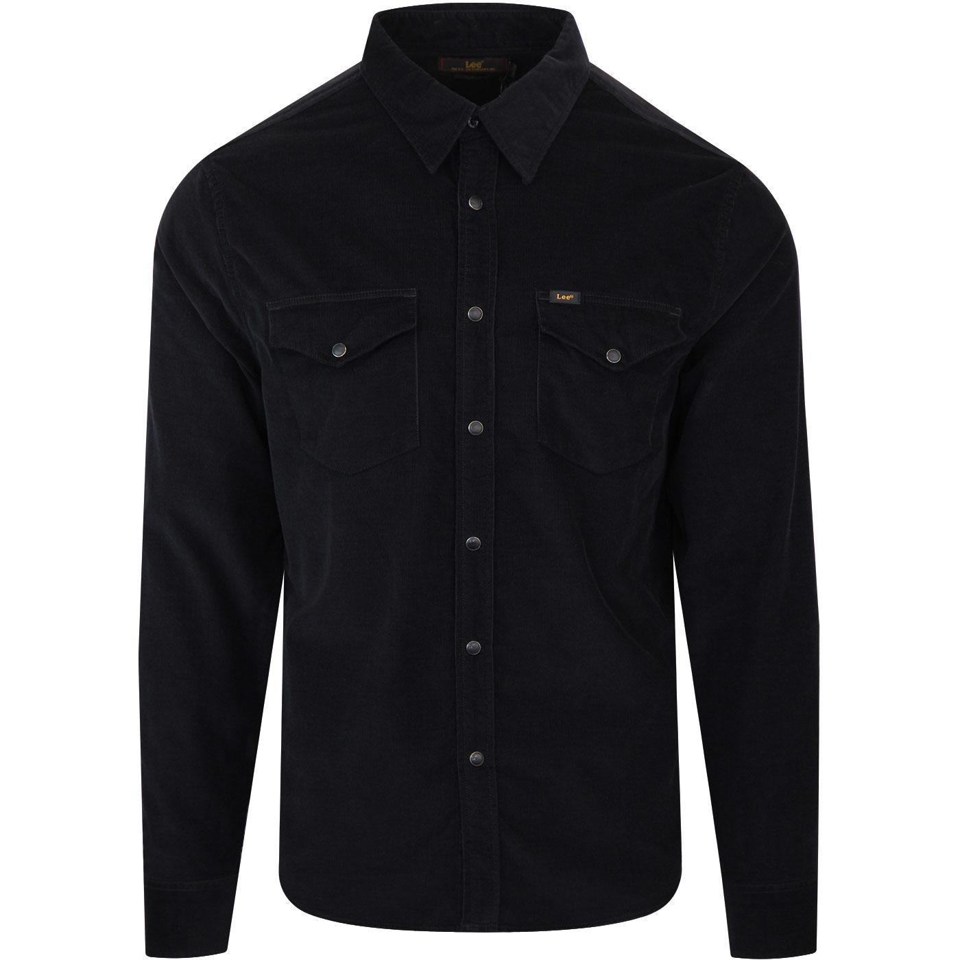LEE Retro 70s Corduroy Western Shirt (Pitch Black)