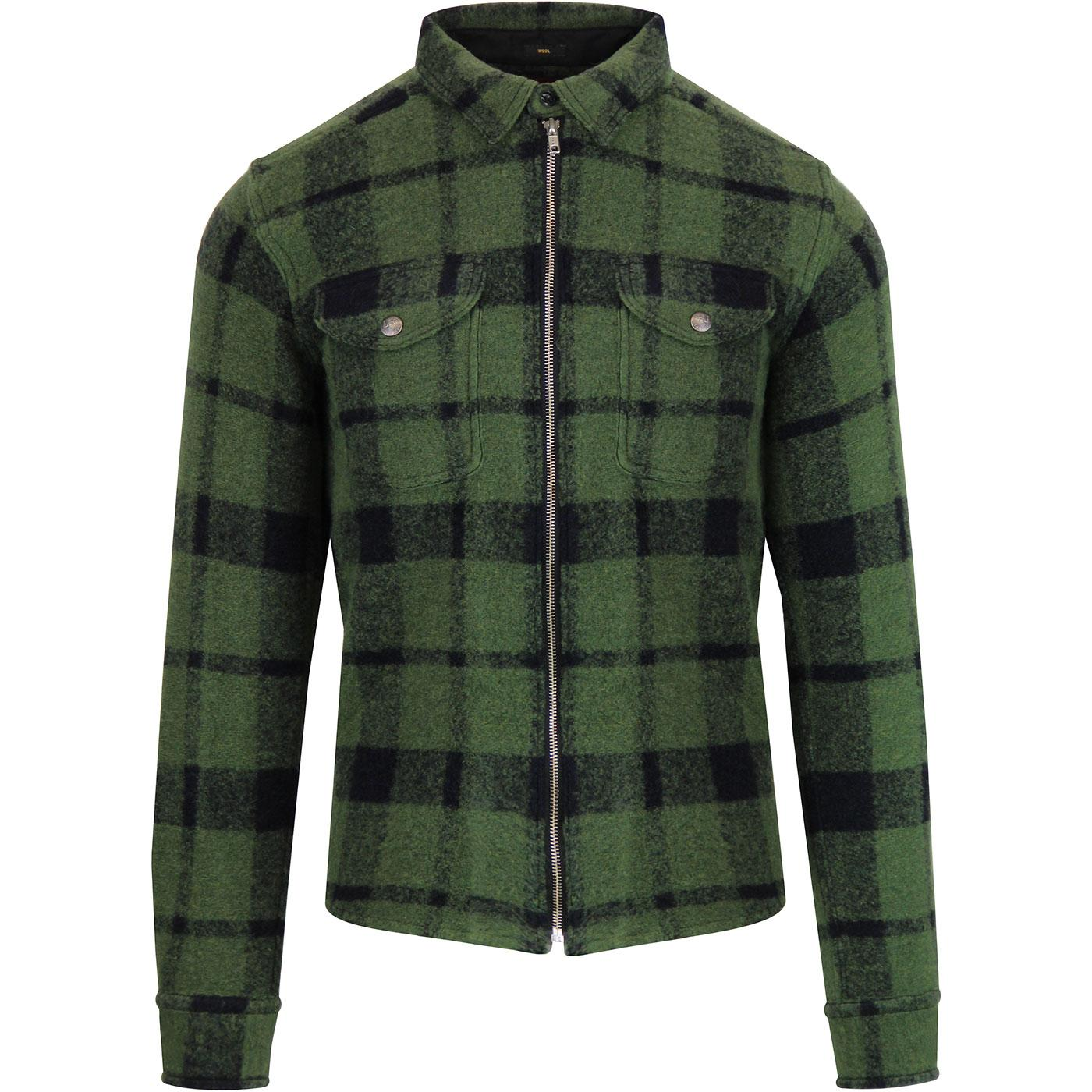 LEE JEANS Men's Retro 50s Wool Overshirt Jacket