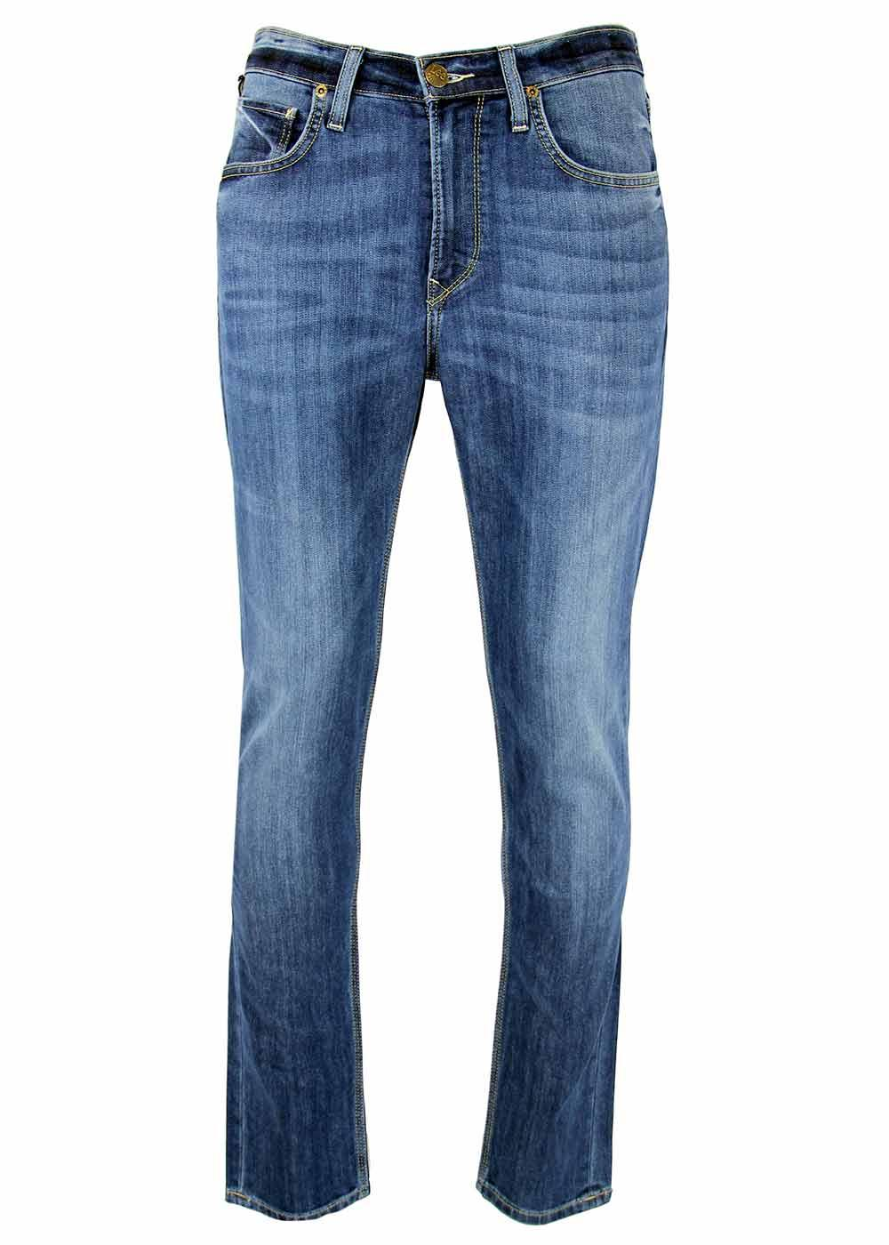 Arvin LEE Retro Mod Regular Tapered Denim Jeans BL