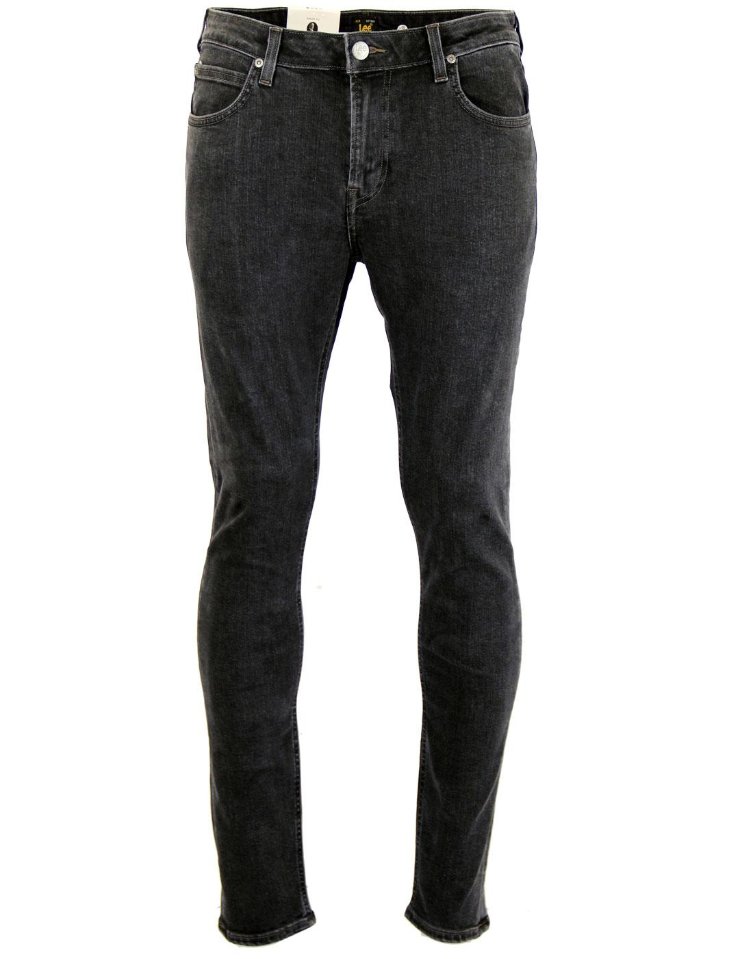 52f945c0 LEE Malone Retro Indie Mod Skinny Drainpipe Jeans in Black Wash