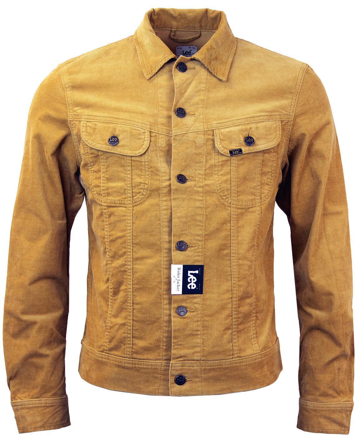 13d50001 LEE Rider Retro 60s Mod Slim Fit Cord Western Jacket in Honey