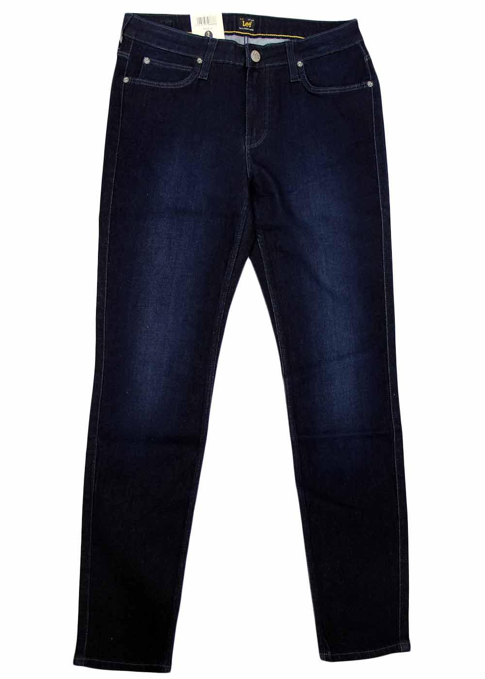 Scarlett LEE Retro Velvet Blue Skinny Denim Jeans