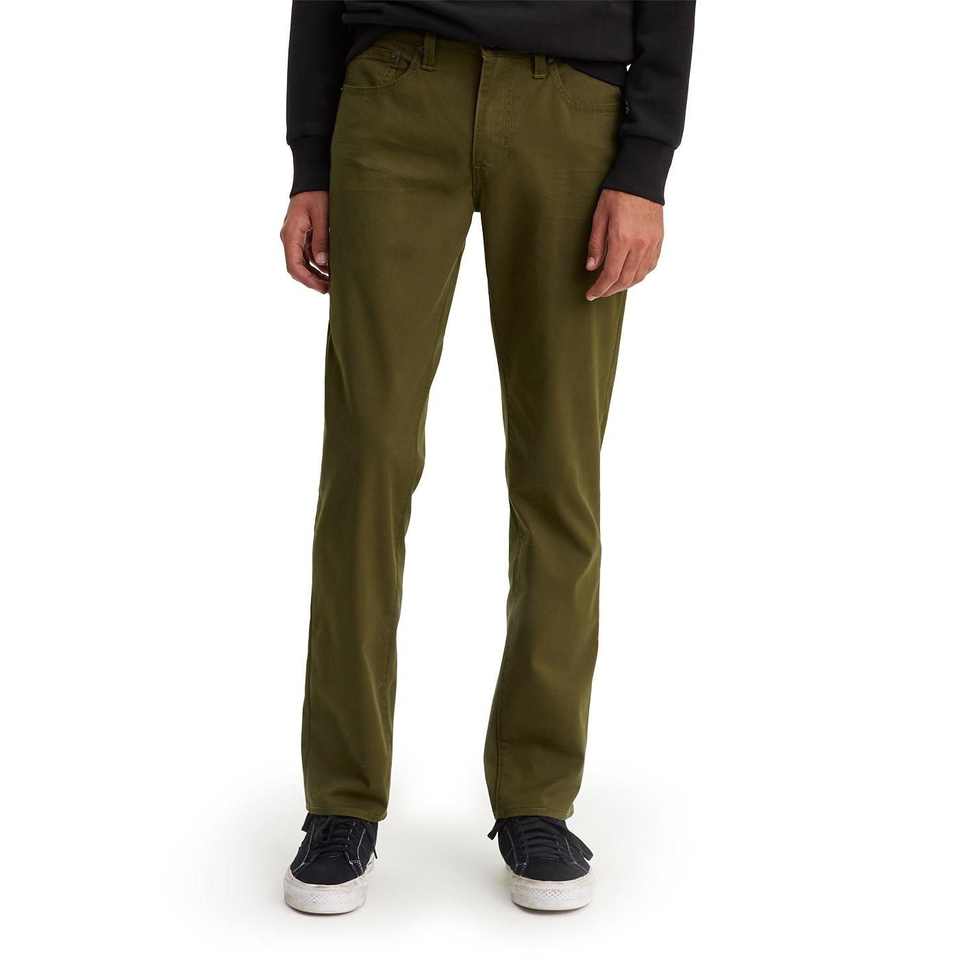 LEVI'S 511 Mens Mod Slim Fit Chinos FORAGERS GREEN