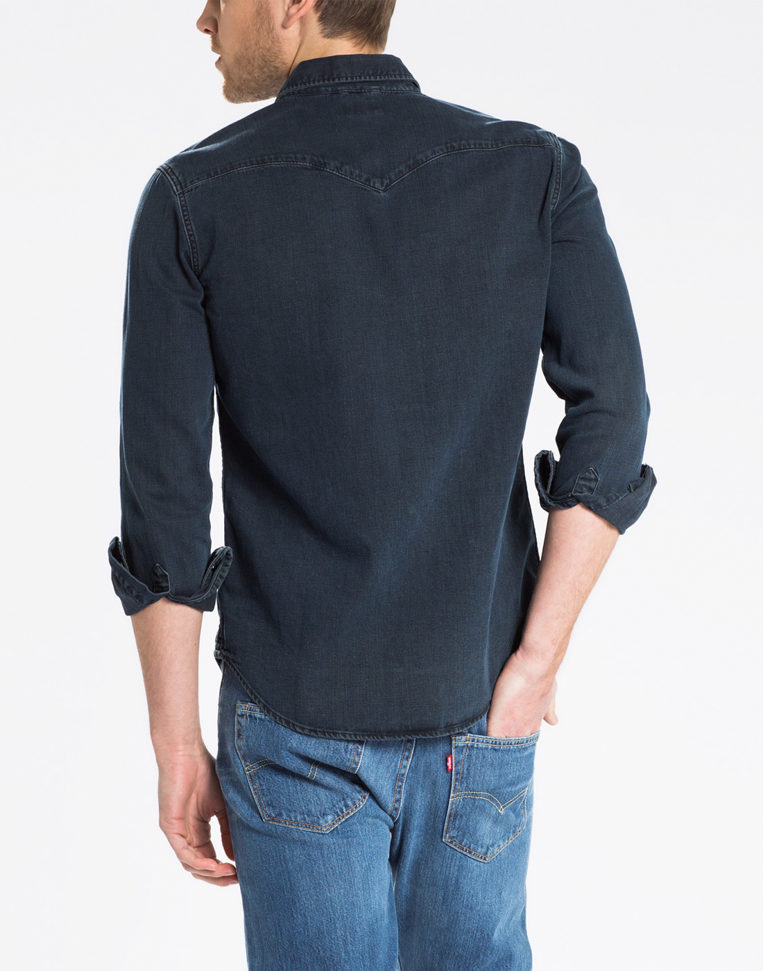 a29d8dd536 LEVI S® Barstow Retro 70s Mens Western Denim Shirt in Smokey Dark