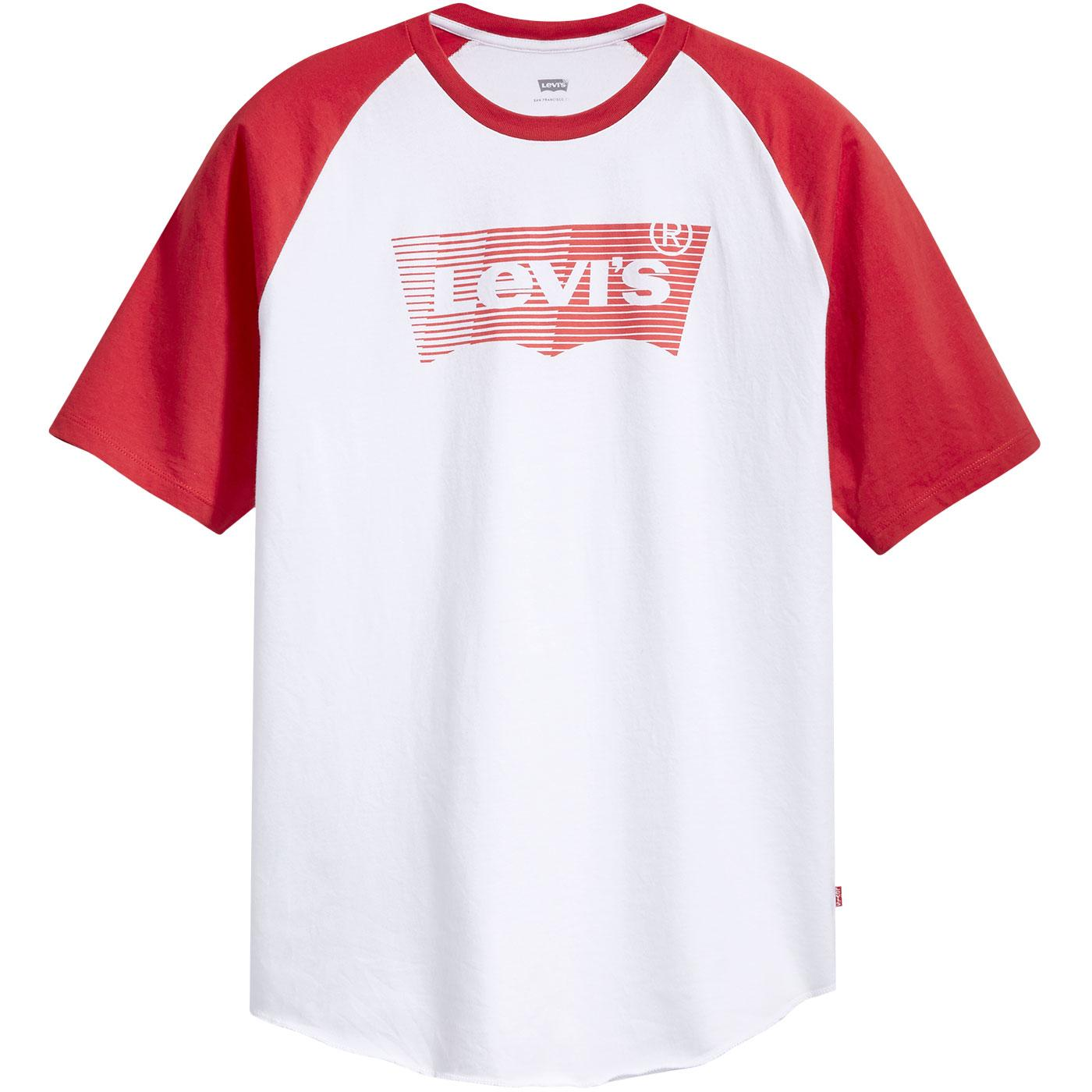 LEVI'S Mens Retro 60s Baseball T-Shirt White/Red