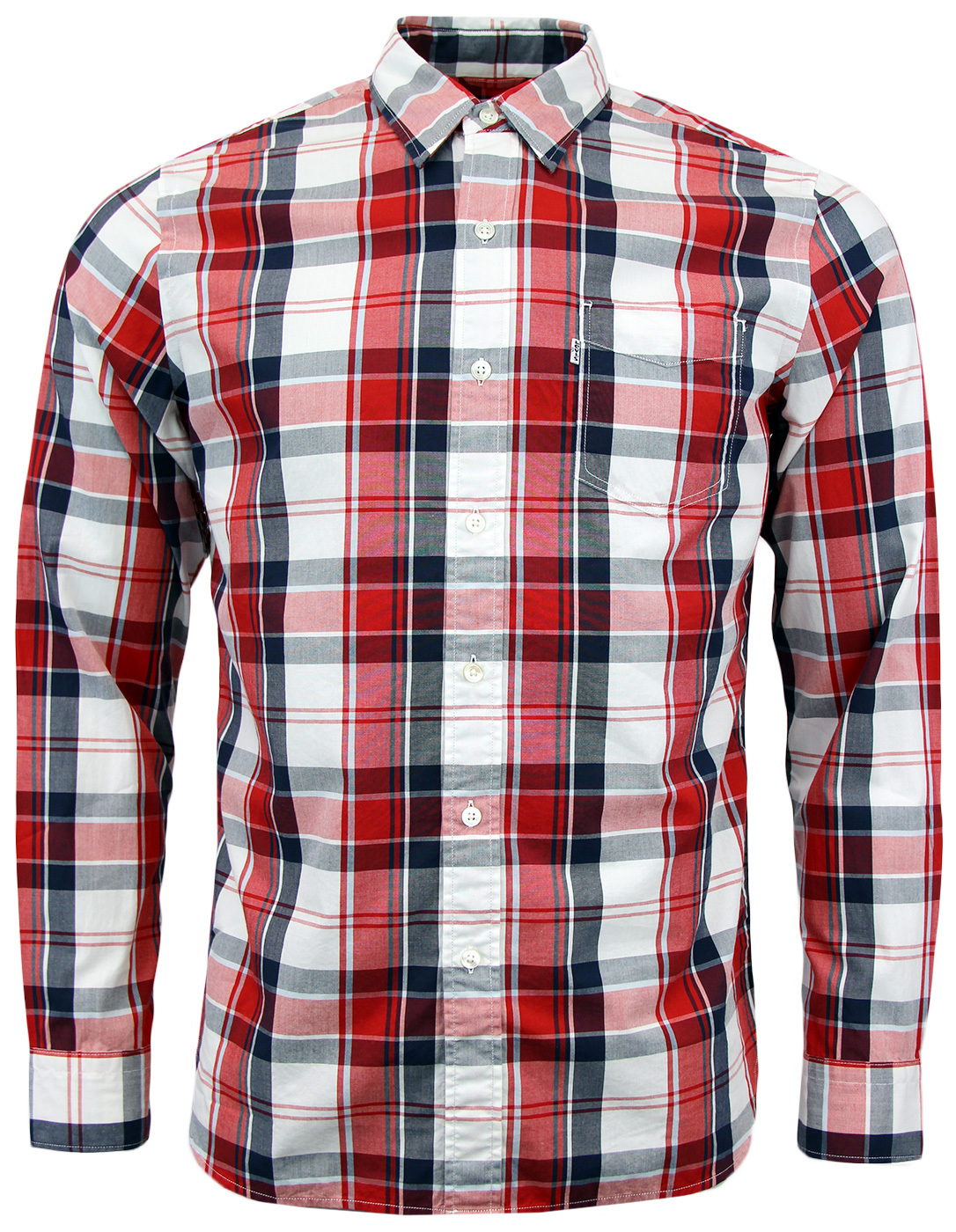 Sunset LEVI'S® Retro Mod 1960s Mens Check Shirt