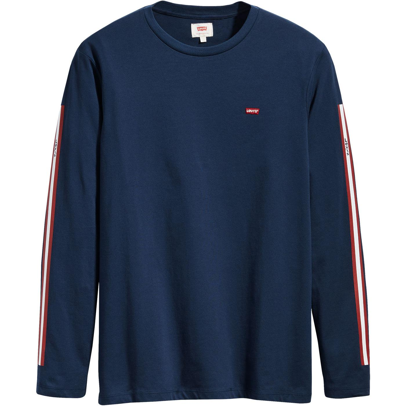 LEVI'S Mens Retro 70s Indie Long Sleeve Tee - Navy