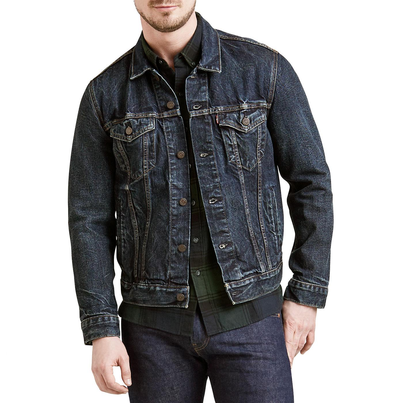 LEVI'S Men's Retro Indigo Denim Trucker Jacket BL