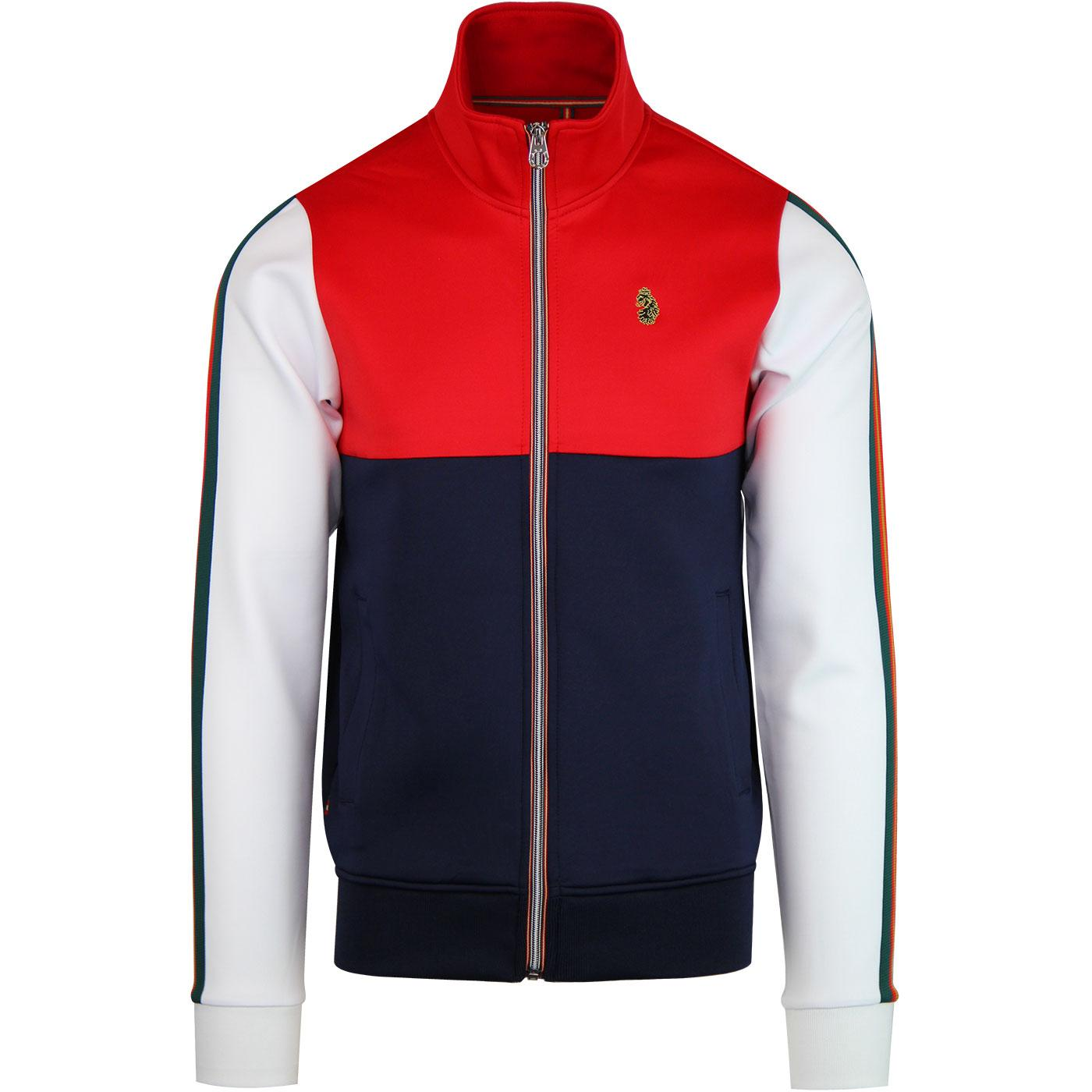 Hoddle LUKE Men's Retro 70s Sports Track Jacket