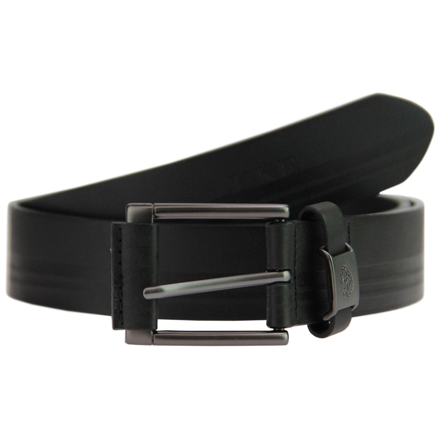 Staple LUKE Retro Tonal Embossed Stripe Belt BLACK