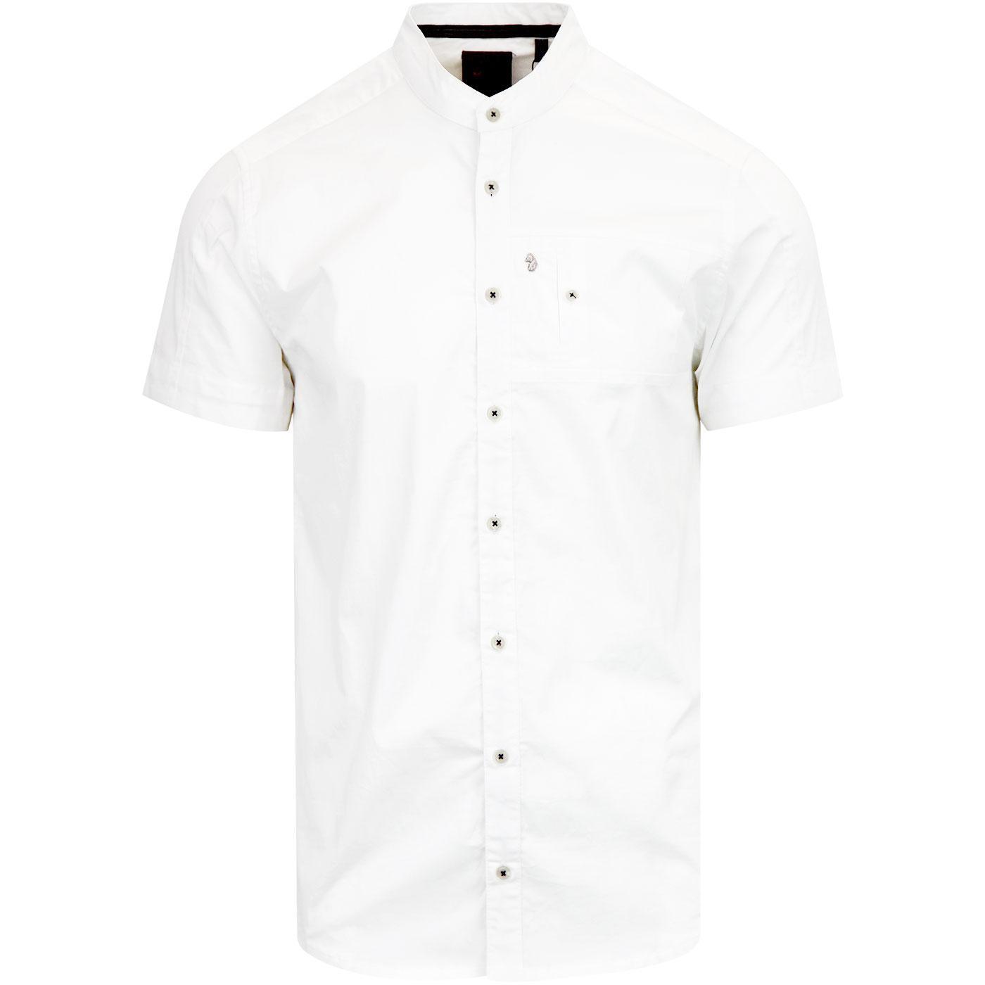 Wockneys LUKE 1977 Short Sleeve Grandad Shirt W