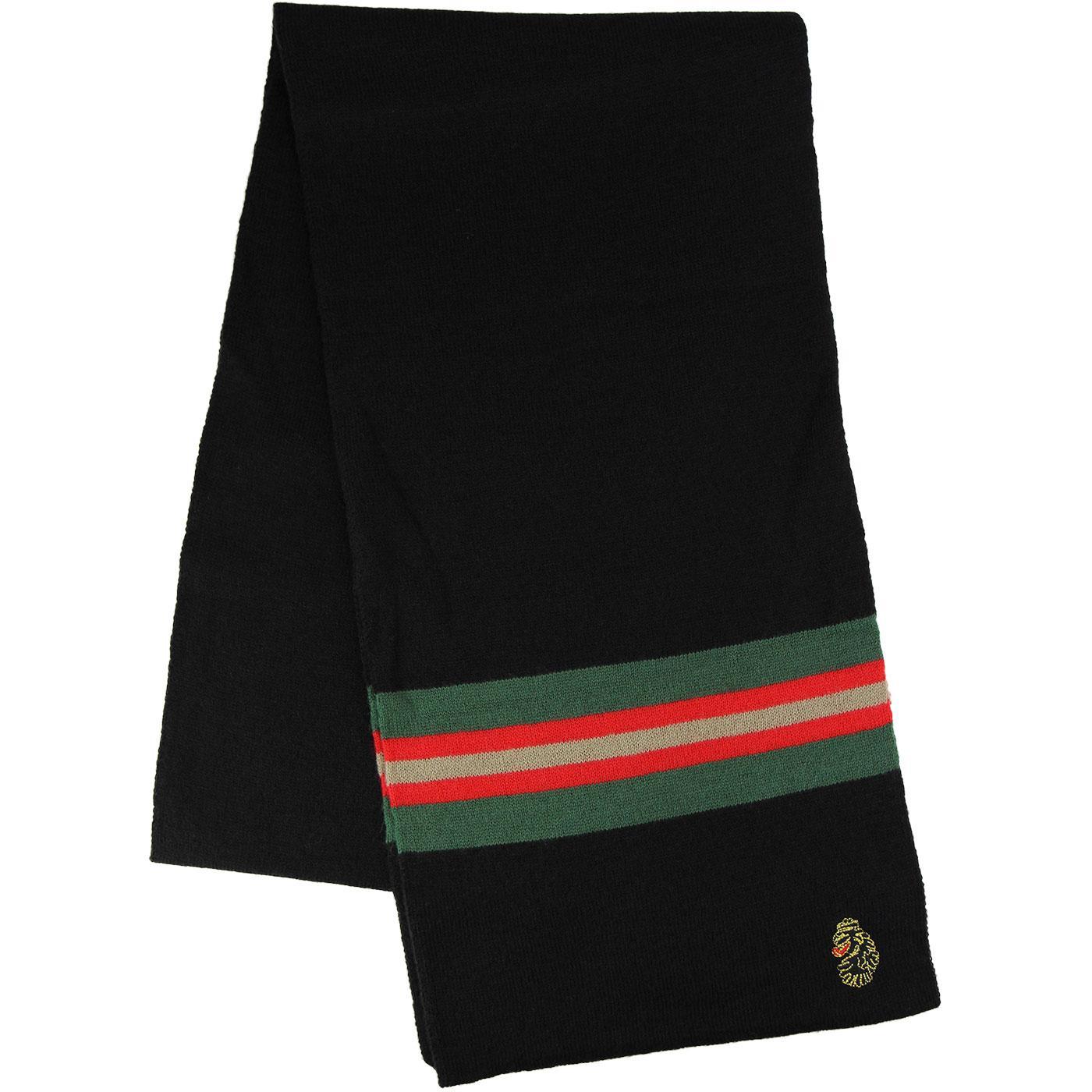 Coppi LUKE 1977 Retro Stripe Knitted Scarf (Black)